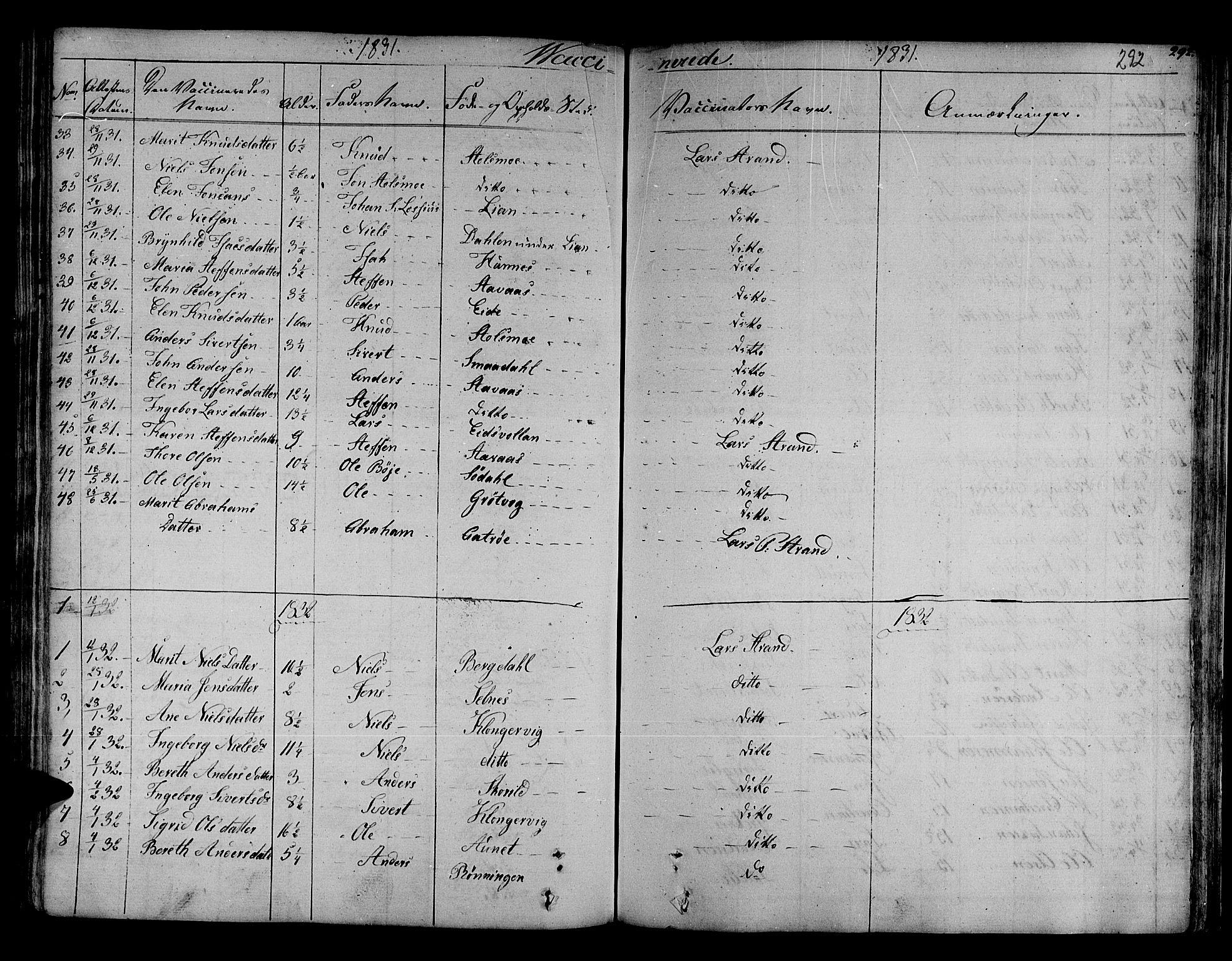 SAT, Ministerialprotokoller, klokkerbøker og fødselsregistre - Sør-Trøndelag, 630/L0492: Ministerialbok nr. 630A05, 1830-1840, s. 292