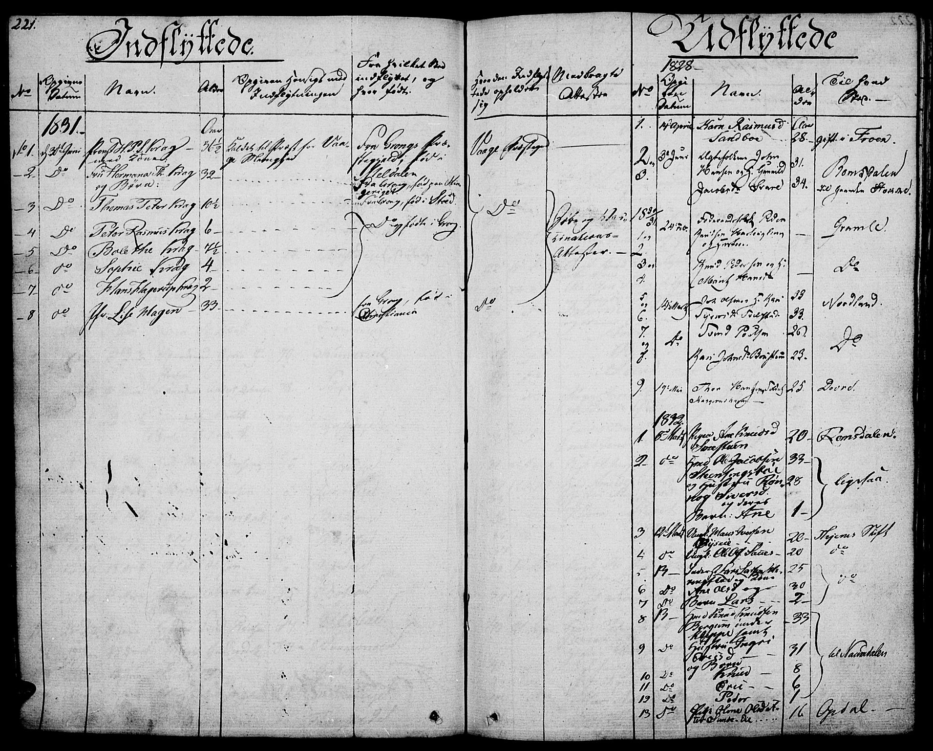 SAH, Vågå prestekontor, Ministerialbok nr. 4 /1, 1827-1842, s. 221