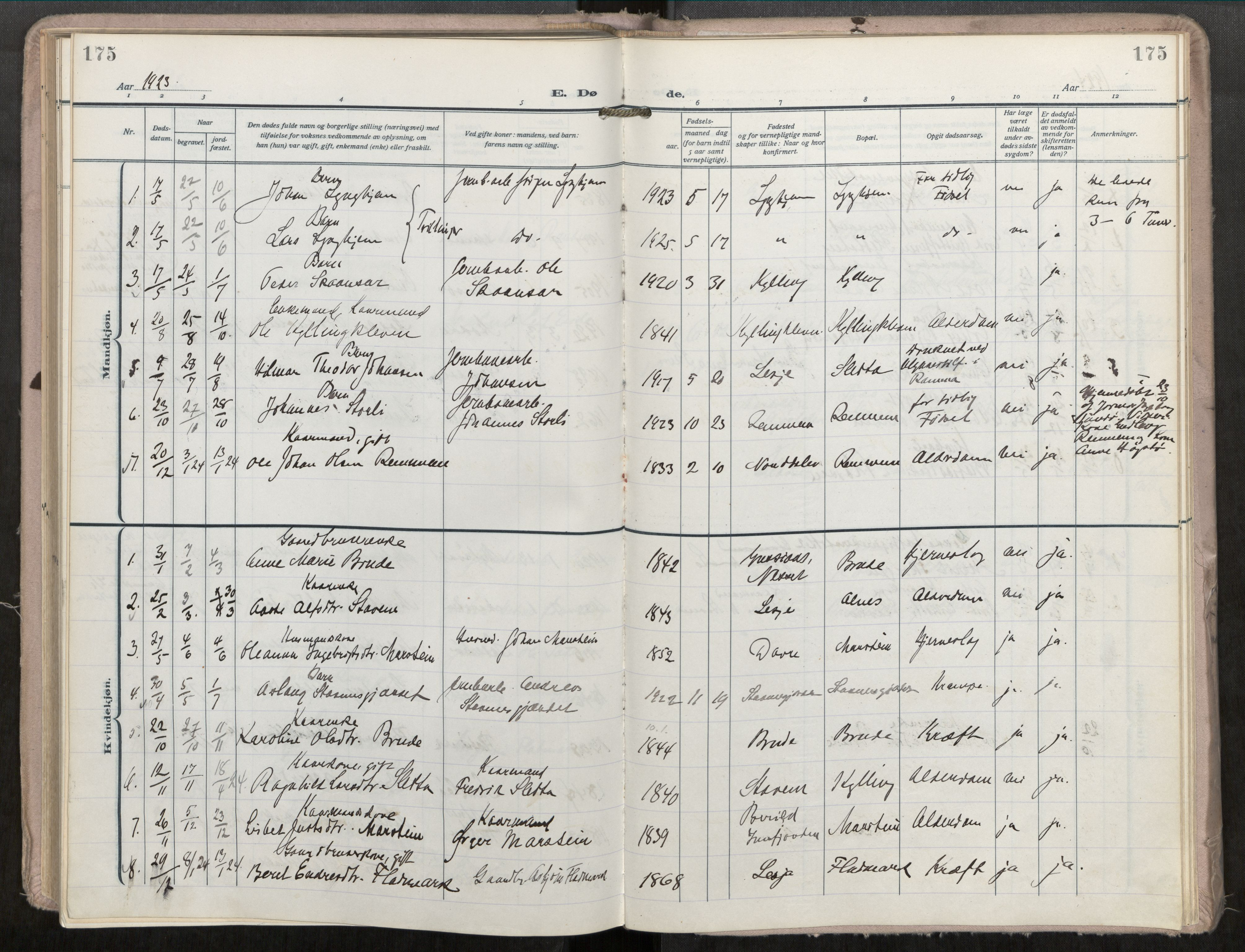 SAT, Grytten sokneprestkontor, Ministerialbok nr. 546A04, 1919-1956, s. 175