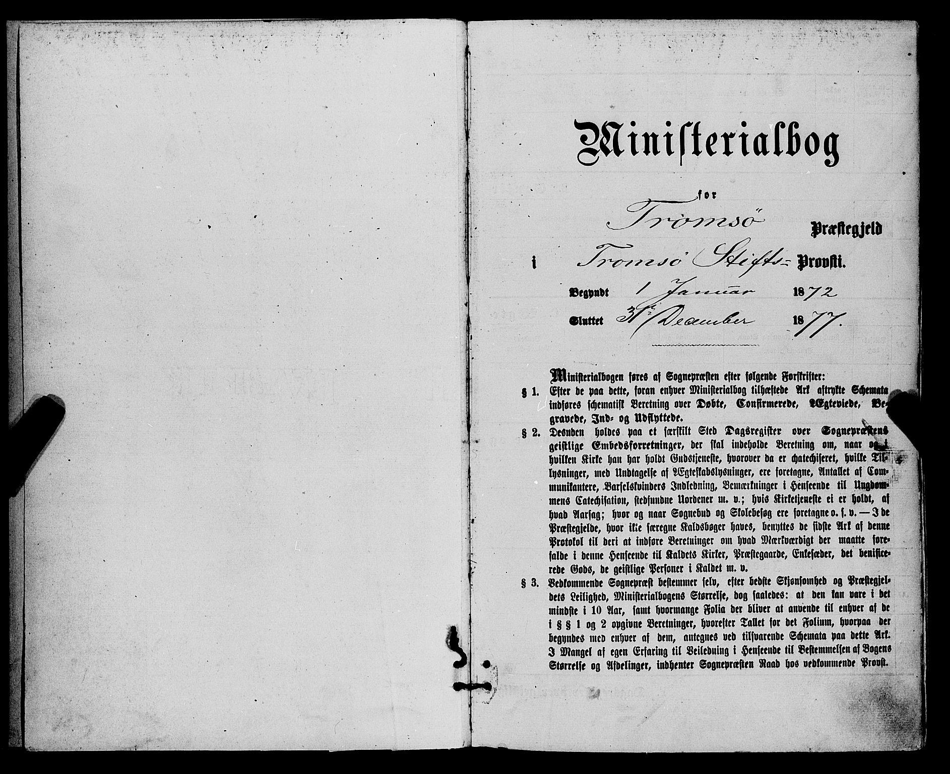 SATØ, Tromsø sokneprestkontor/stiftsprosti/domprosti, G/Ga/L0013kirke: Ministerialbok nr. 13, 1872-1877
