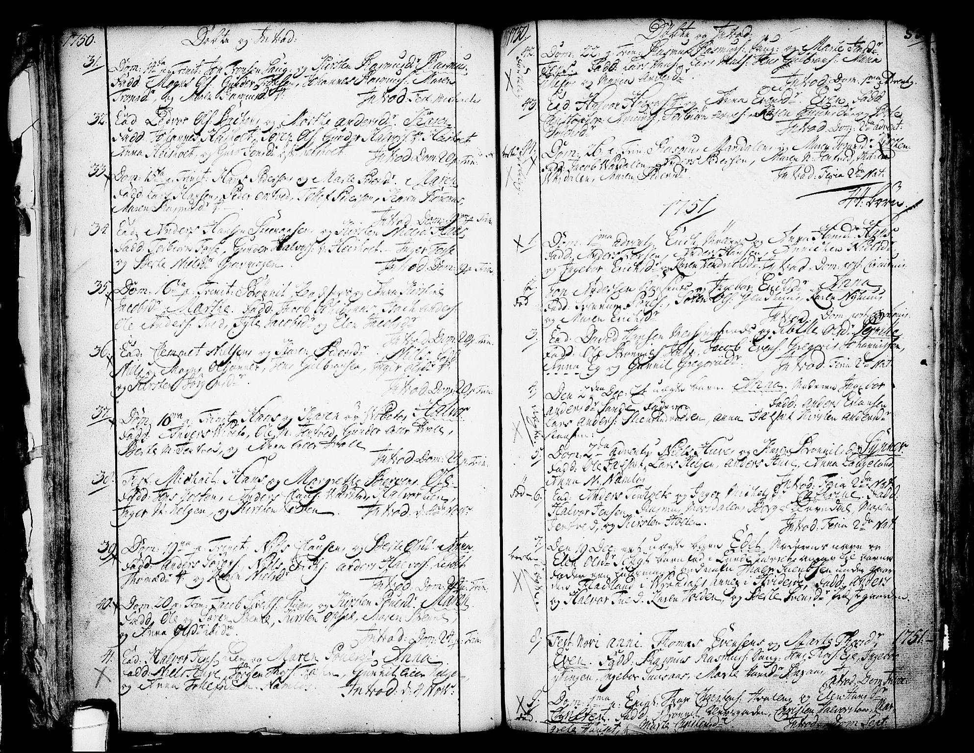 SAKO, Holla kirkebøker, F/Fa/L0001: Ministerialbok nr. 1, 1717-1779, s. 55