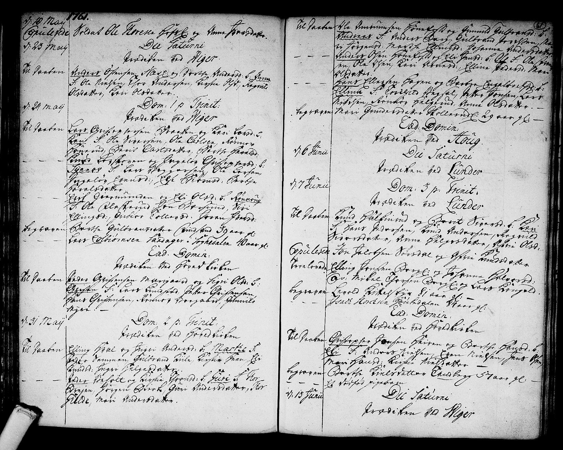 SAKO, Norderhov kirkebøker, F/Fa/L0004: Ministerialbok nr. 4, 1758-1774, s. 61