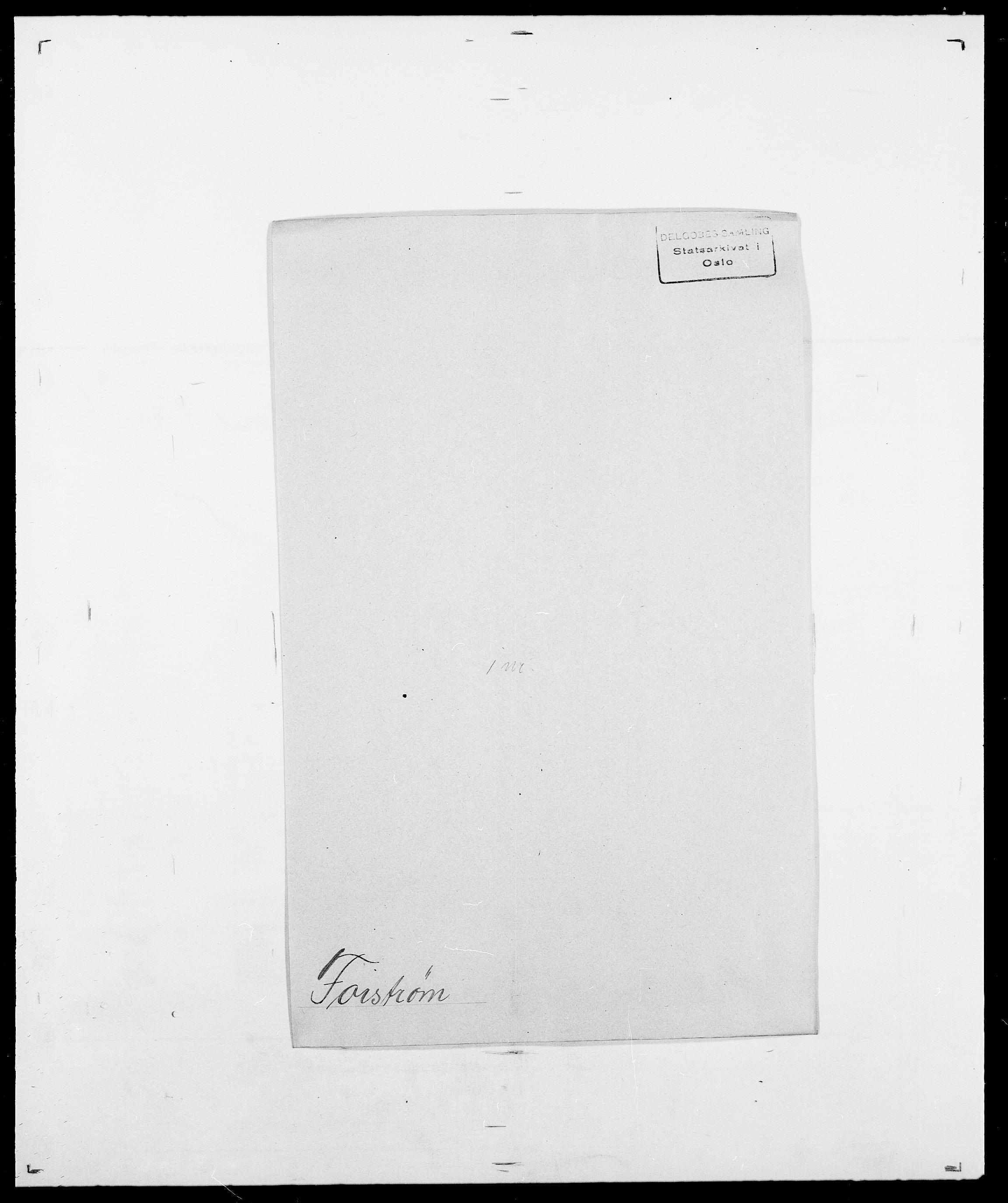 SAO, Delgobe, Charles Antoine - samling, D/Da/L0012: Flor, Floer, Flohr - Fritzner, s. 612