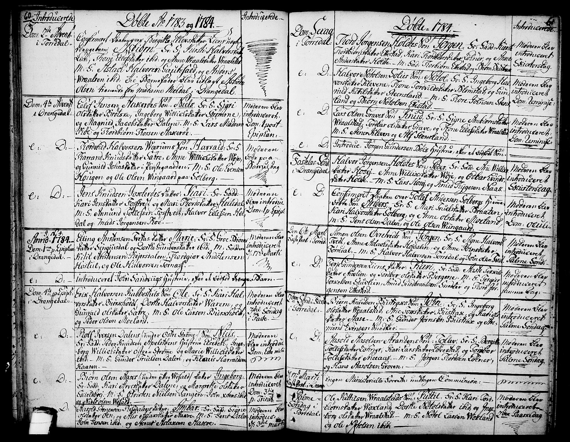 SAKO, Drangedal kirkebøker, F/Fa/L0003: Ministerialbok nr. 3, 1768-1814, s. 60-61