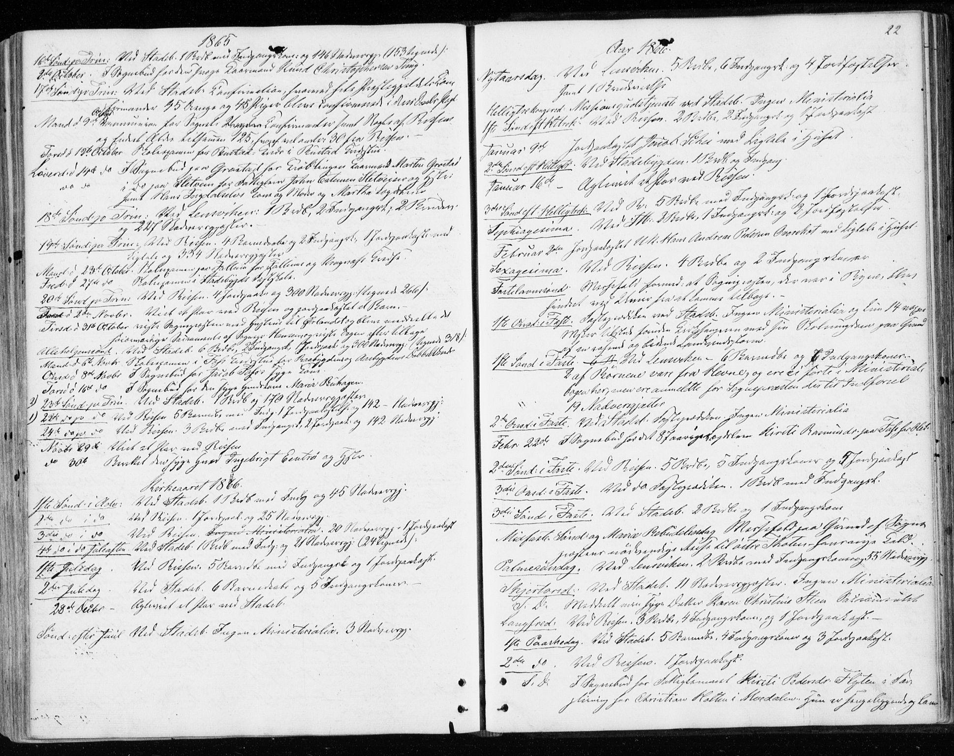 SAT, Ministerialprotokoller, klokkerbøker og fødselsregistre - Sør-Trøndelag, 646/L0612: Ministerialbok nr. 646A10, 1858-1869, s. 22