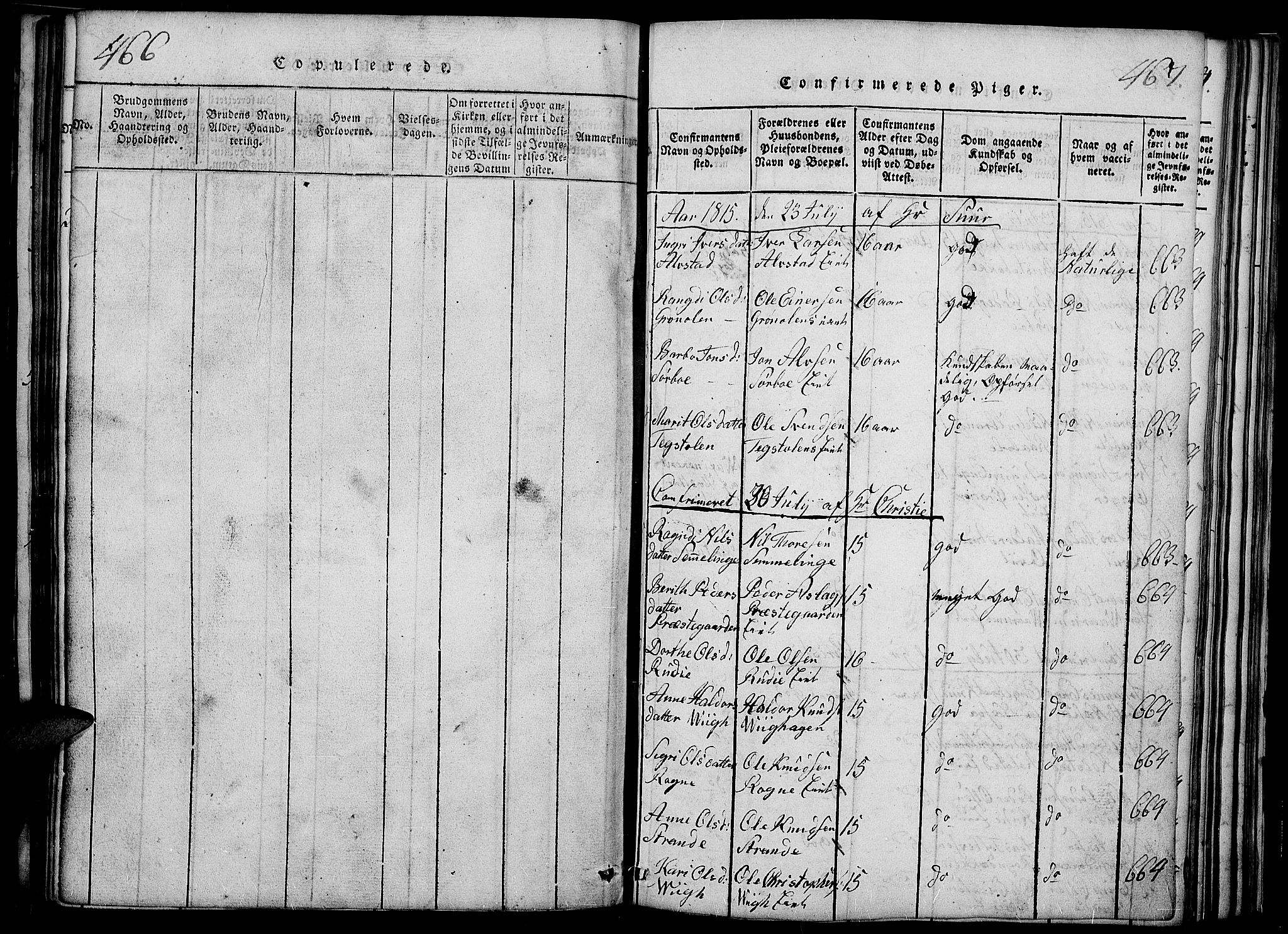 SAH, Slidre prestekontor, Ministerialbok nr. 2, 1814-1830, s. 466-467