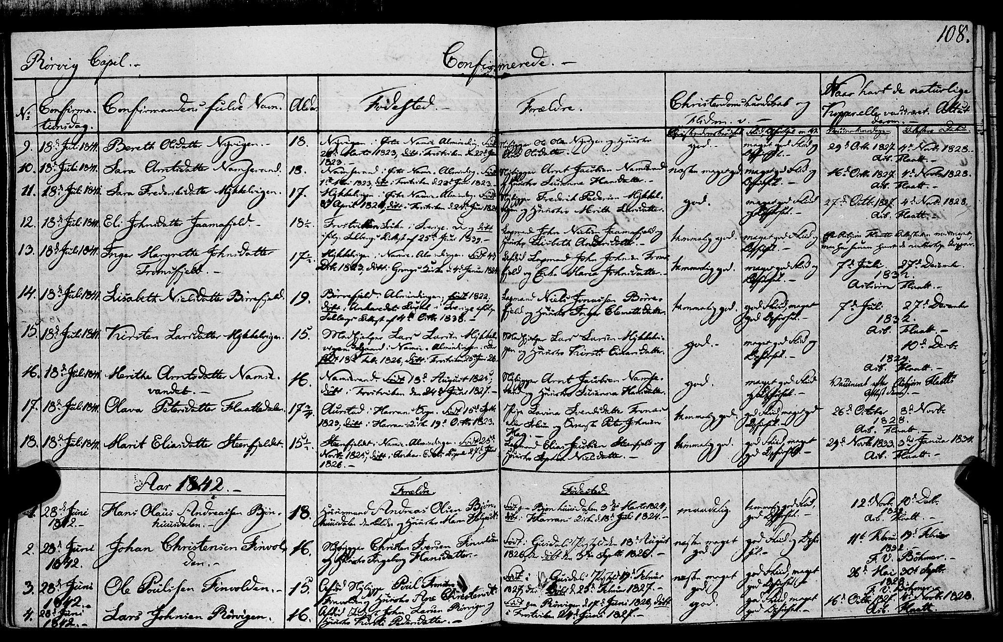 SAT, Ministerialprotokoller, klokkerbøker og fødselsregistre - Nord-Trøndelag, 762/L0538: Ministerialbok nr. 762A02 /1, 1833-1879, s. 108