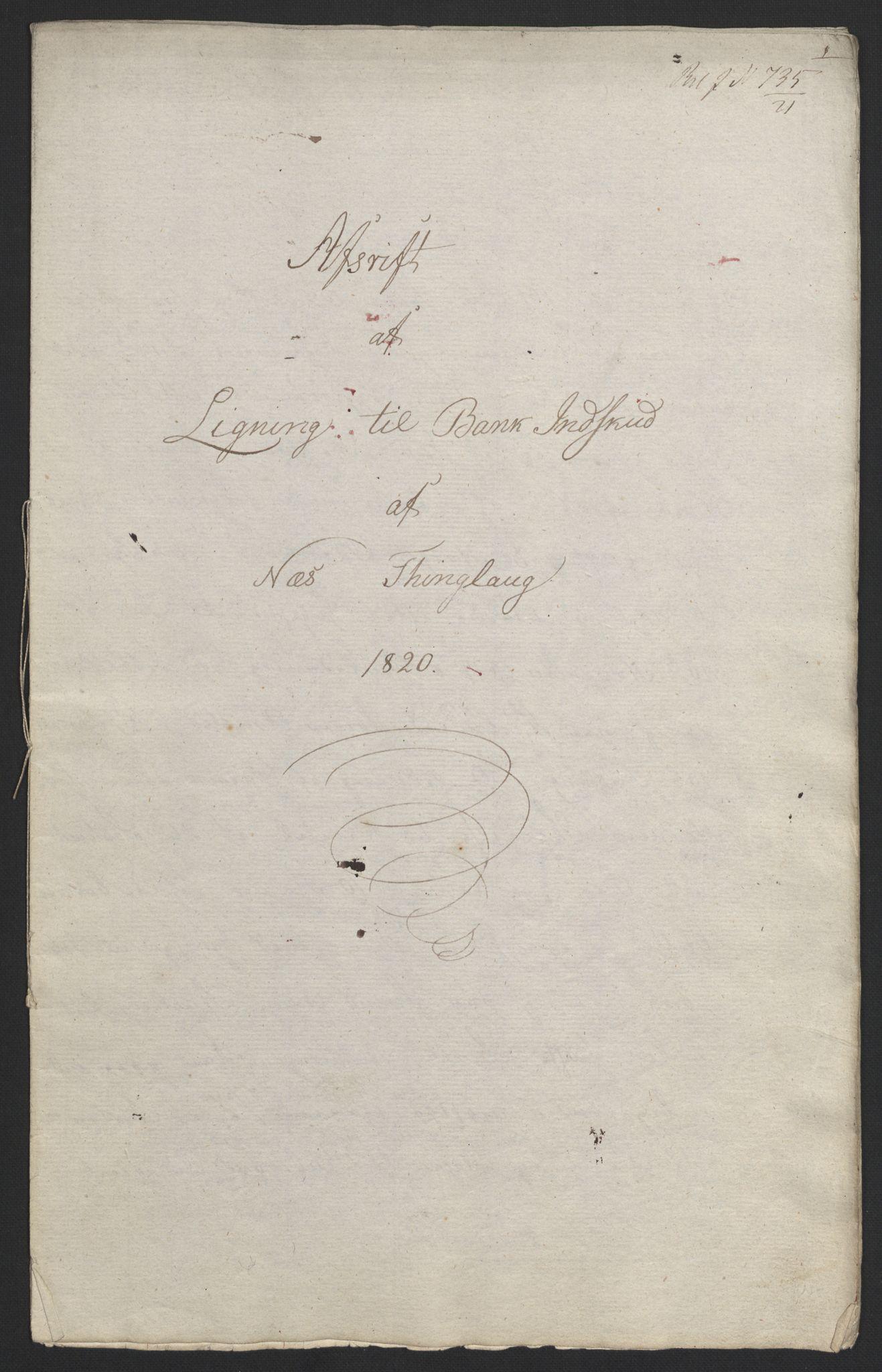 NOBA, Norges Bank/Sølvskatten 1816*, 1816-1821, s. 81