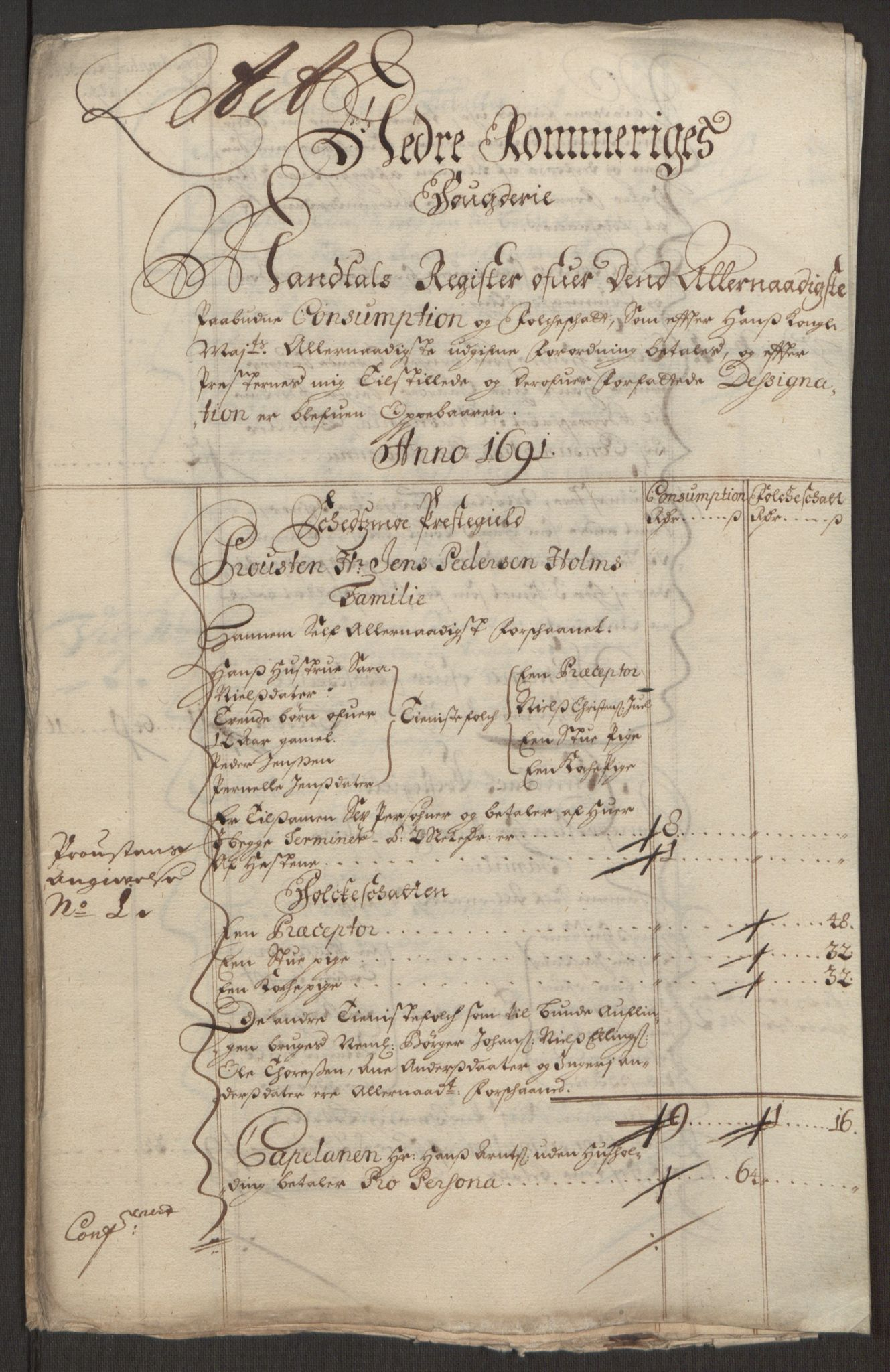 RA, Rentekammeret inntil 1814, Reviderte regnskaper, Fogderegnskap, R11/L0575: Fogderegnskap Nedre Romerike, 1691, s. 133