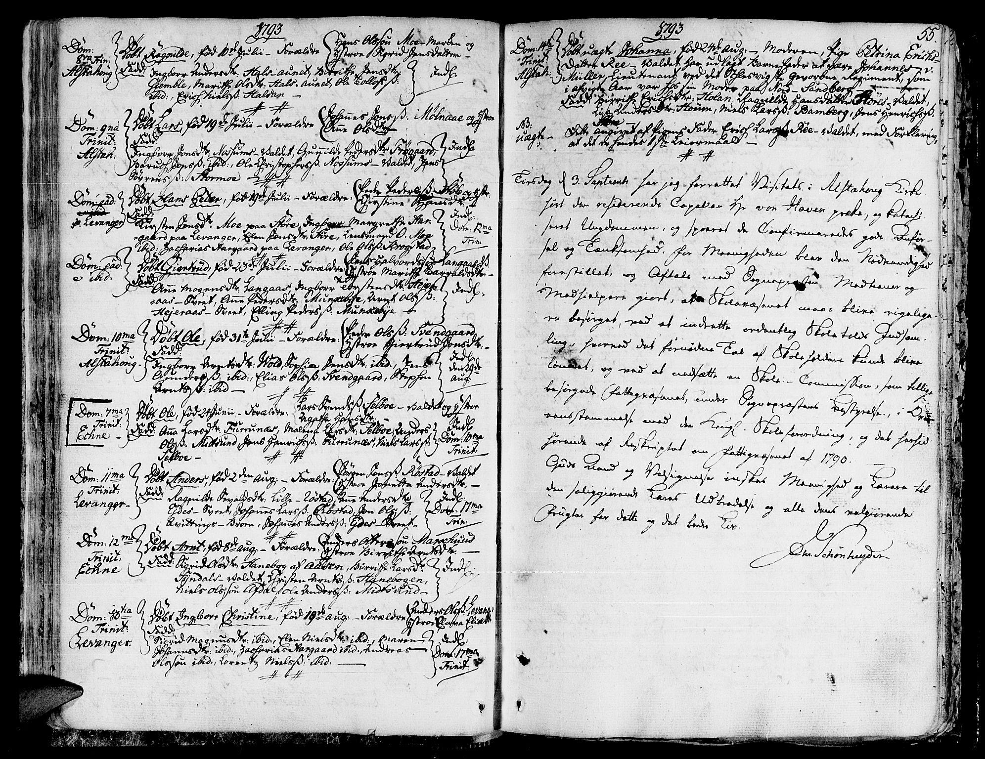SAT, Ministerialprotokoller, klokkerbøker og fødselsregistre - Nord-Trøndelag, 717/L0142: Ministerialbok nr. 717A02 /1, 1783-1809, s. 55