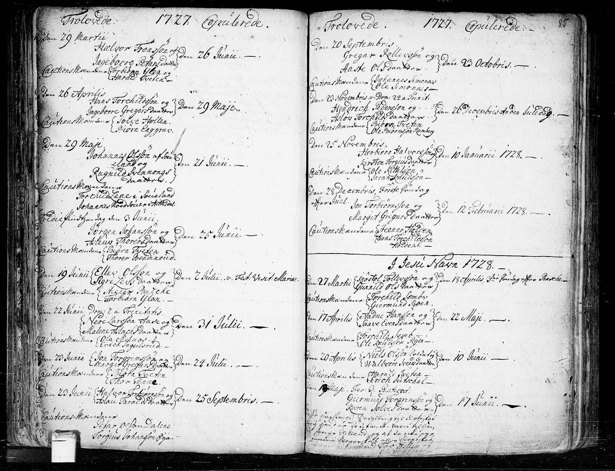 SAKO, Heddal kirkebøker, F/Fa/L0003: Ministerialbok nr. I 3, 1723-1783, s. 85