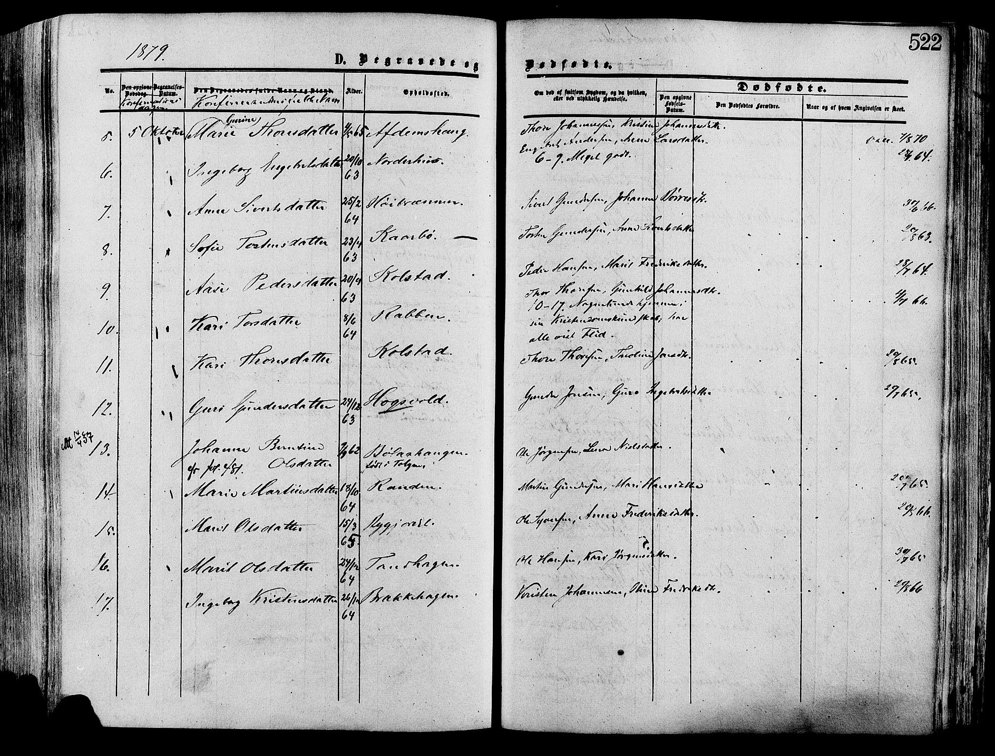 SAH, Lesja prestekontor, Ministerialbok nr. 8, 1854-1880, s. 522