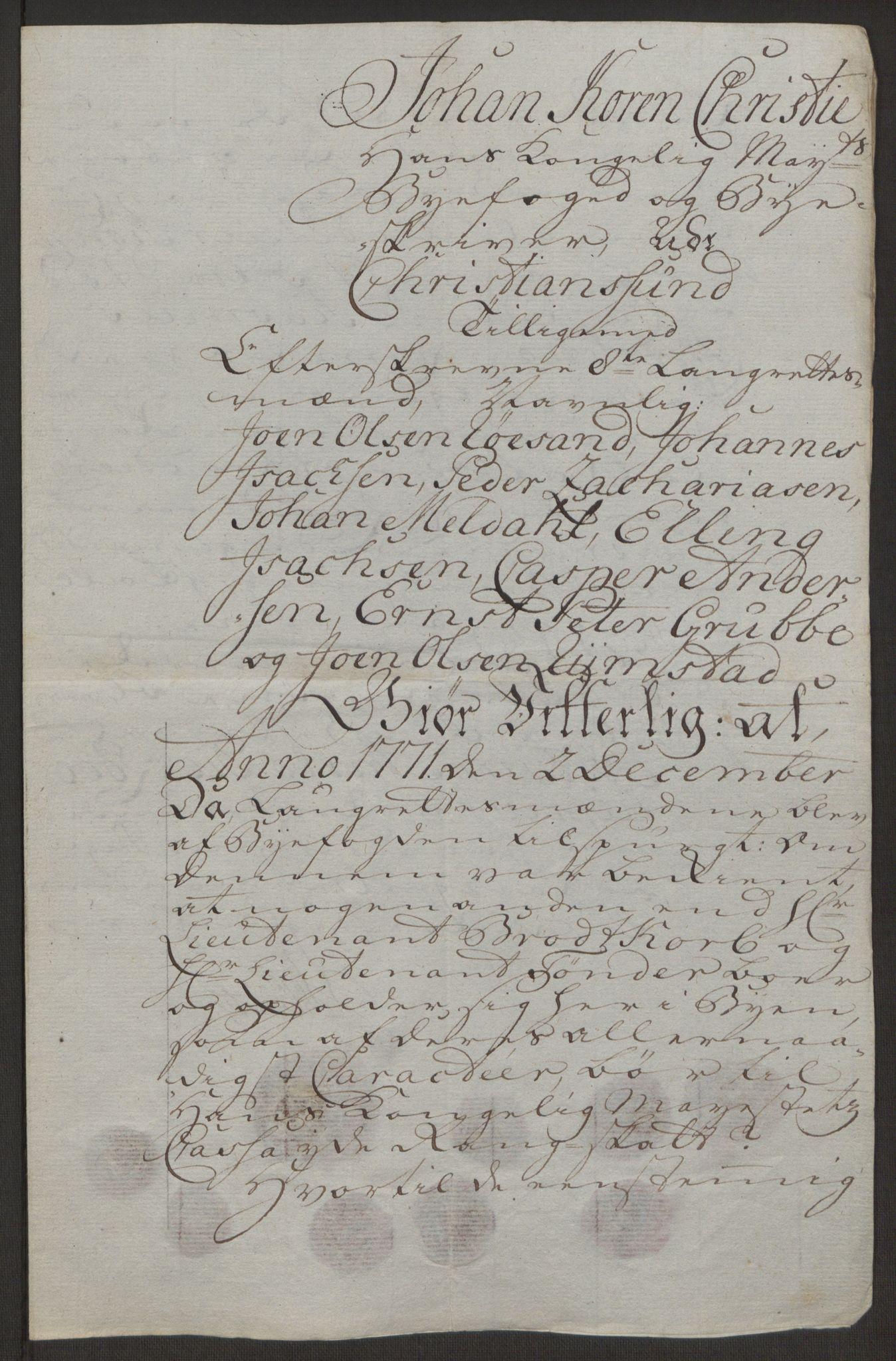 RA, Rentekammeret inntil 1814, Reviderte regnskaper, Byregnskaper, R/Rr/L0495: [R1] Kontribusjonsregnskap, 1762-1772, s. 256