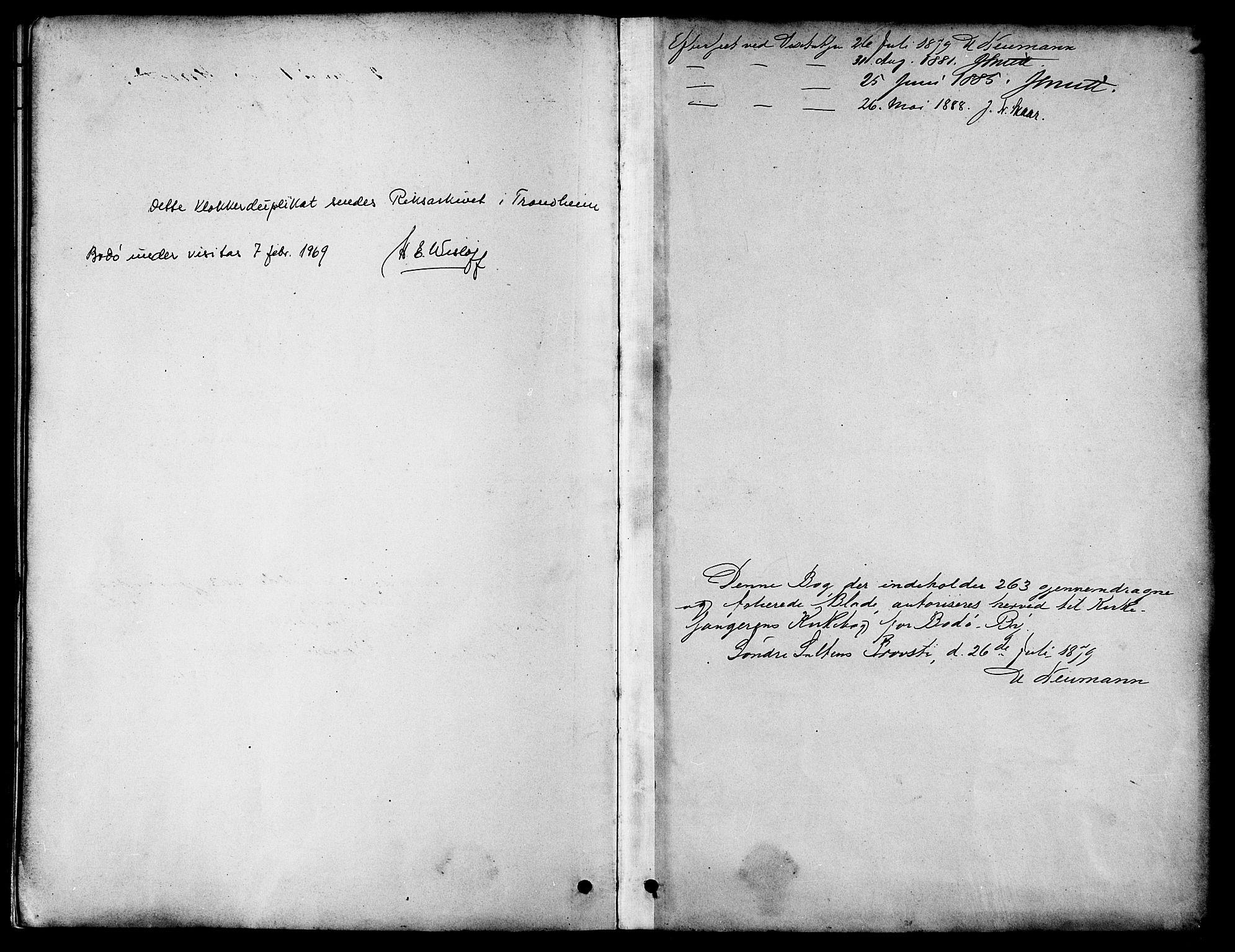 SAT, Ministerialprotokoller, klokkerbøker og fødselsregistre - Nordland, 801/L0030: Klokkerbok nr. 801C05, 1879-1887