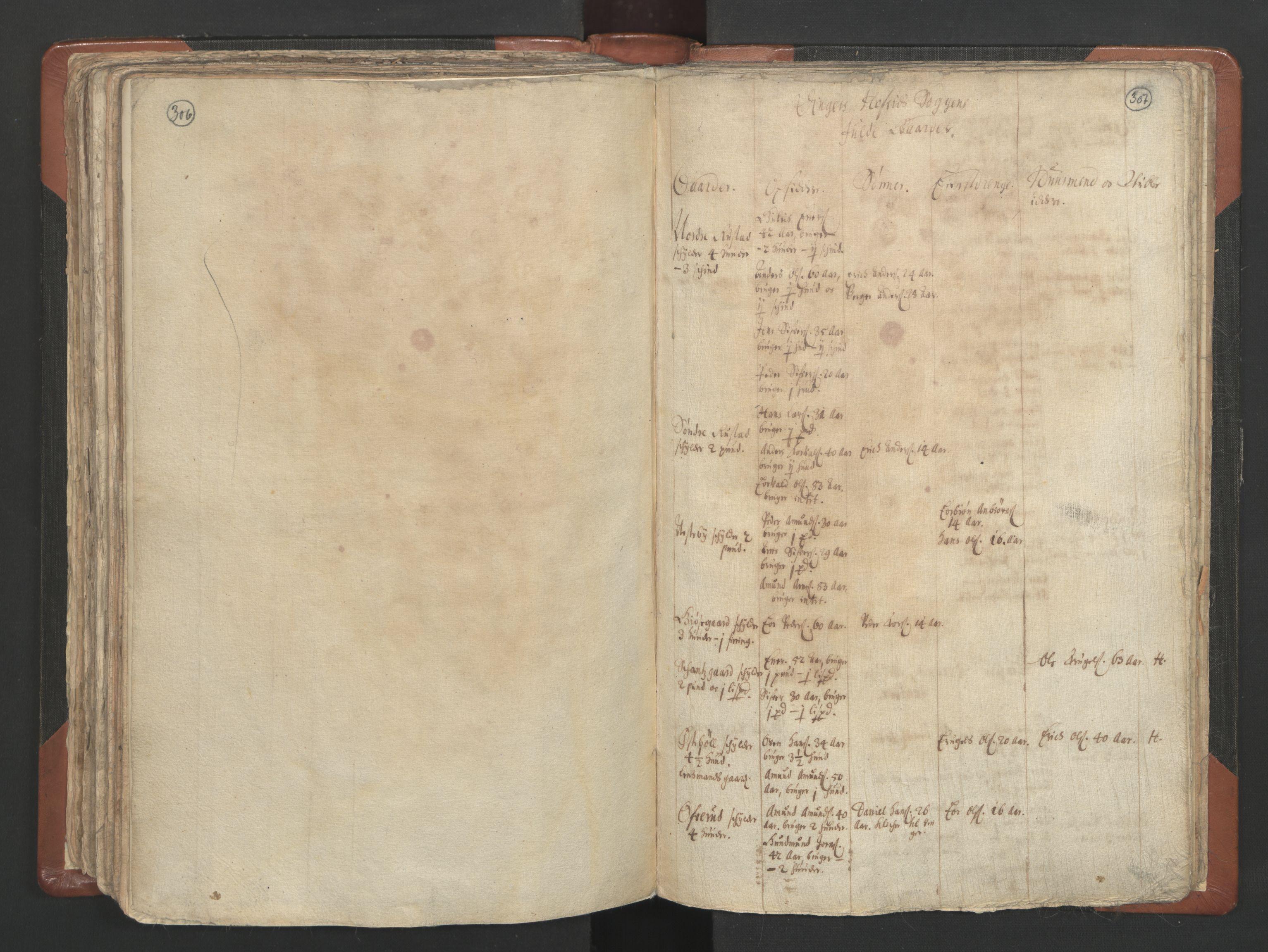 RA, Sogneprestenes manntall 1664-1666, nr. 4: Øvre Romerike prosti, 1664-1666, s. 306-307