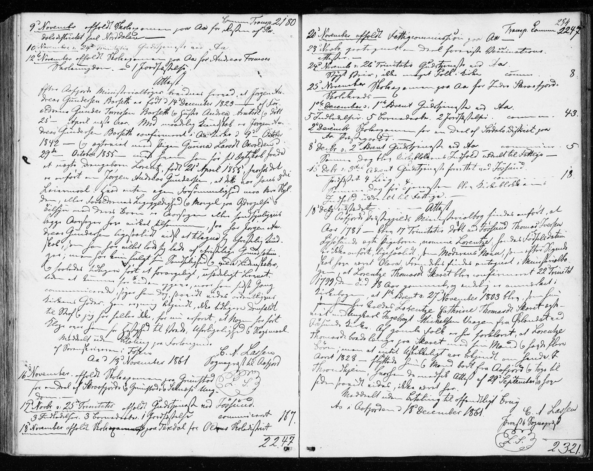 SAT, Ministerialprotokoller, klokkerbøker og fødselsregistre - Sør-Trøndelag, 655/L0678: Ministerialbok nr. 655A07, 1861-1873, s. 294