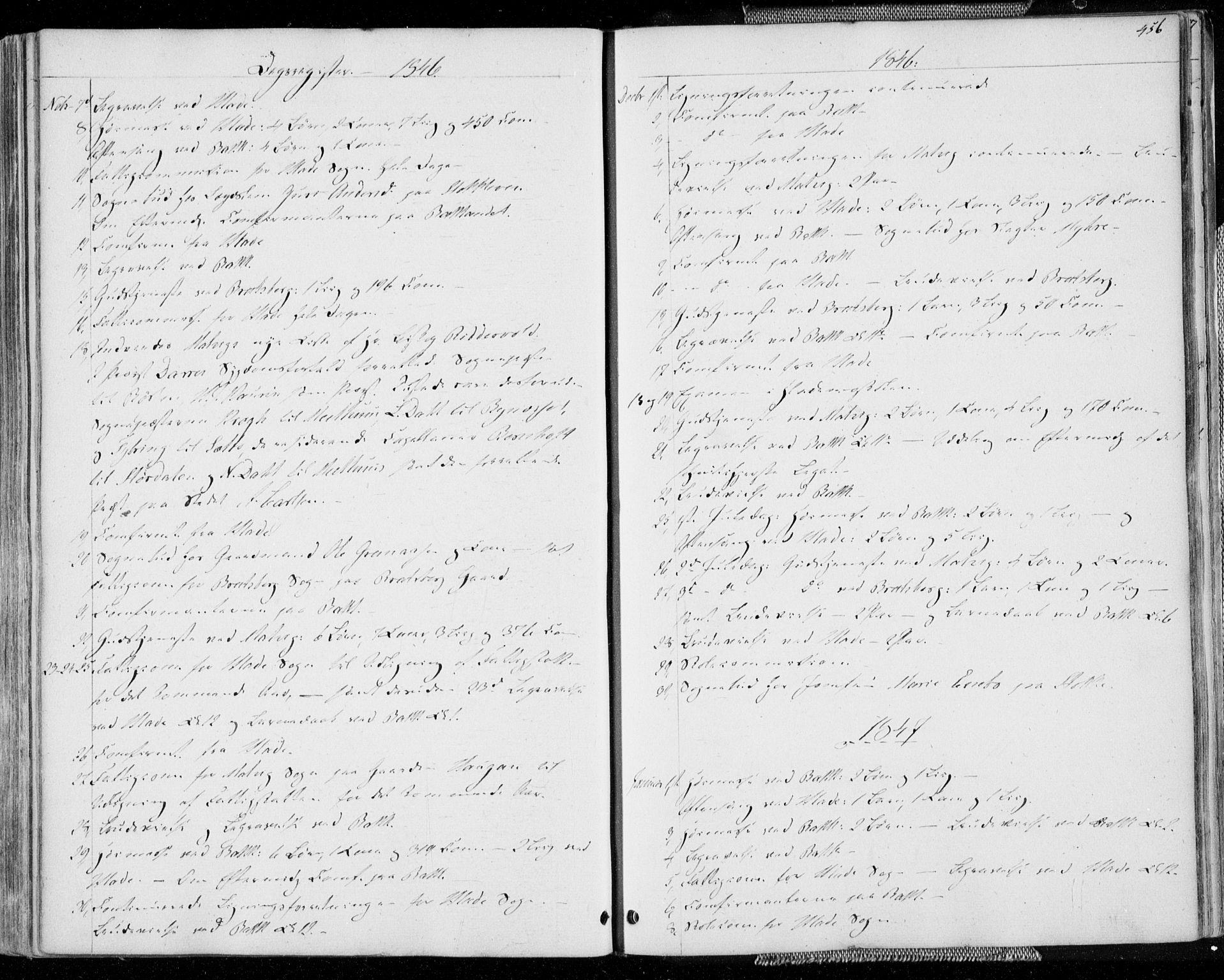 SAT, Ministerialprotokoller, klokkerbøker og fødselsregistre - Sør-Trøndelag, 606/L0290: Ministerialbok nr. 606A05, 1841-1847, s. 456