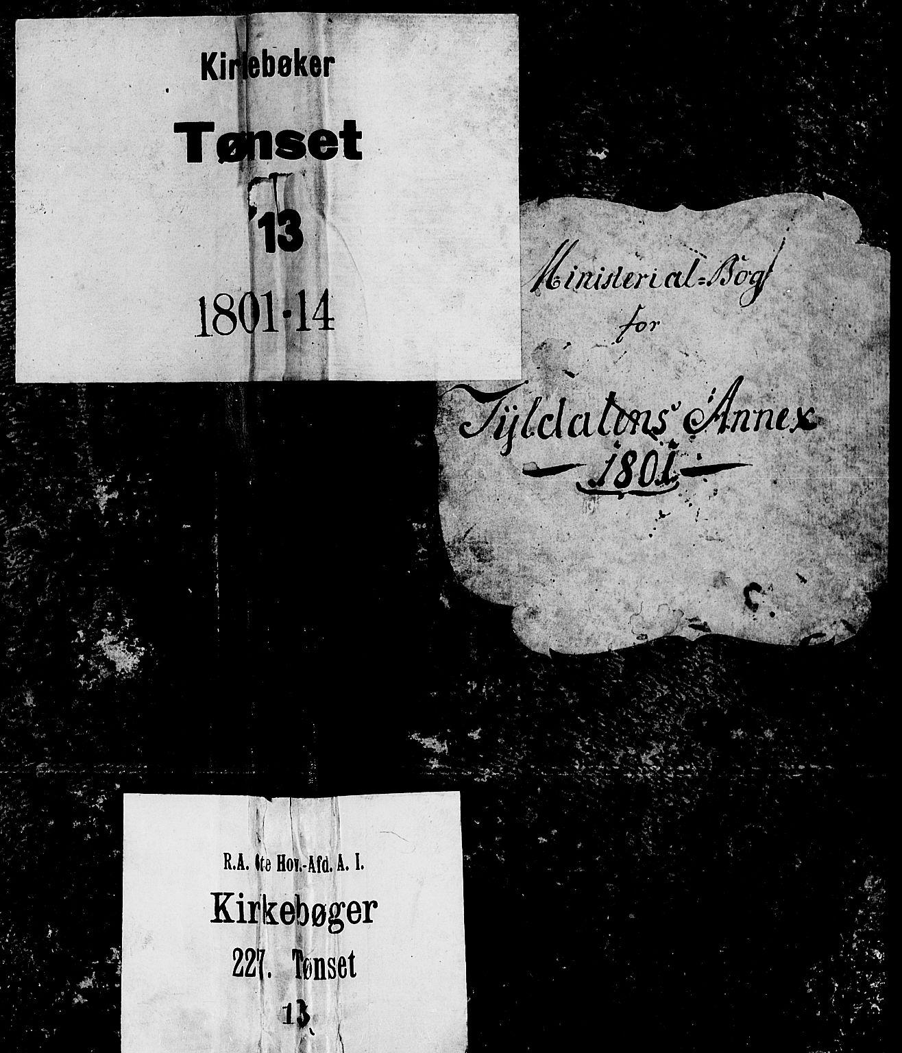 SAH, Tynset prestekontor, Ministerialbok nr. 17, 1801-1814