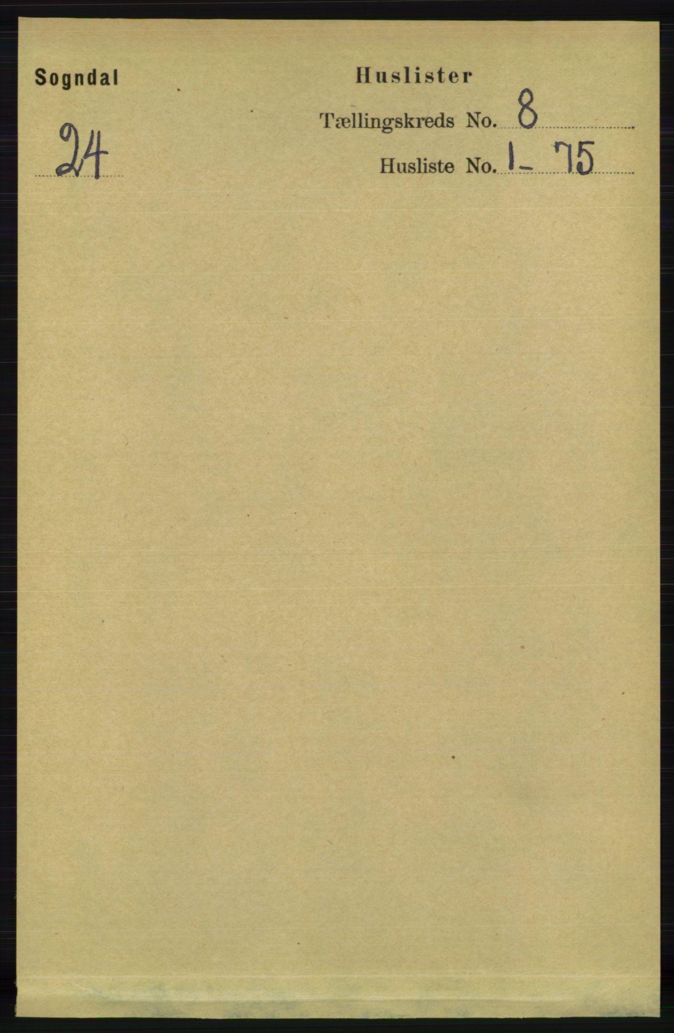 RA, Folketelling 1891 for 1111 Sokndal herred, 1891, s. 2597