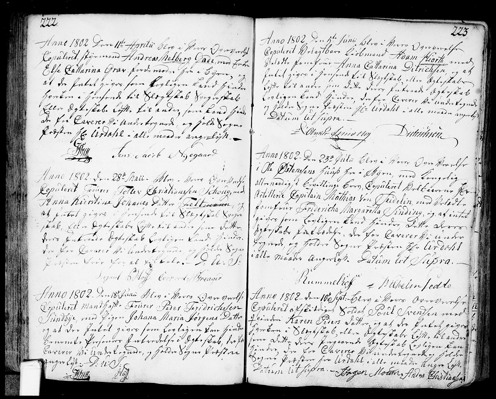 SAO, Fredrikstad prestekontor Kirkebøker, F/Fa/L0002: Ministerialbok nr. 2, 1750-1804, s. 222-223