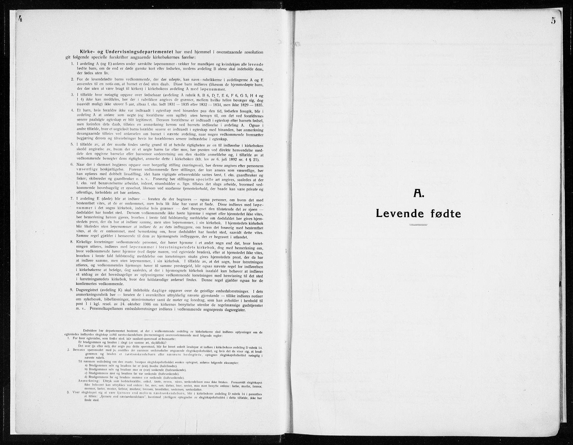SAH, Ringsaker prestekontor, K/Ka/L0020: Ministerialbok nr. 20, 1913-1922, s. 4-5