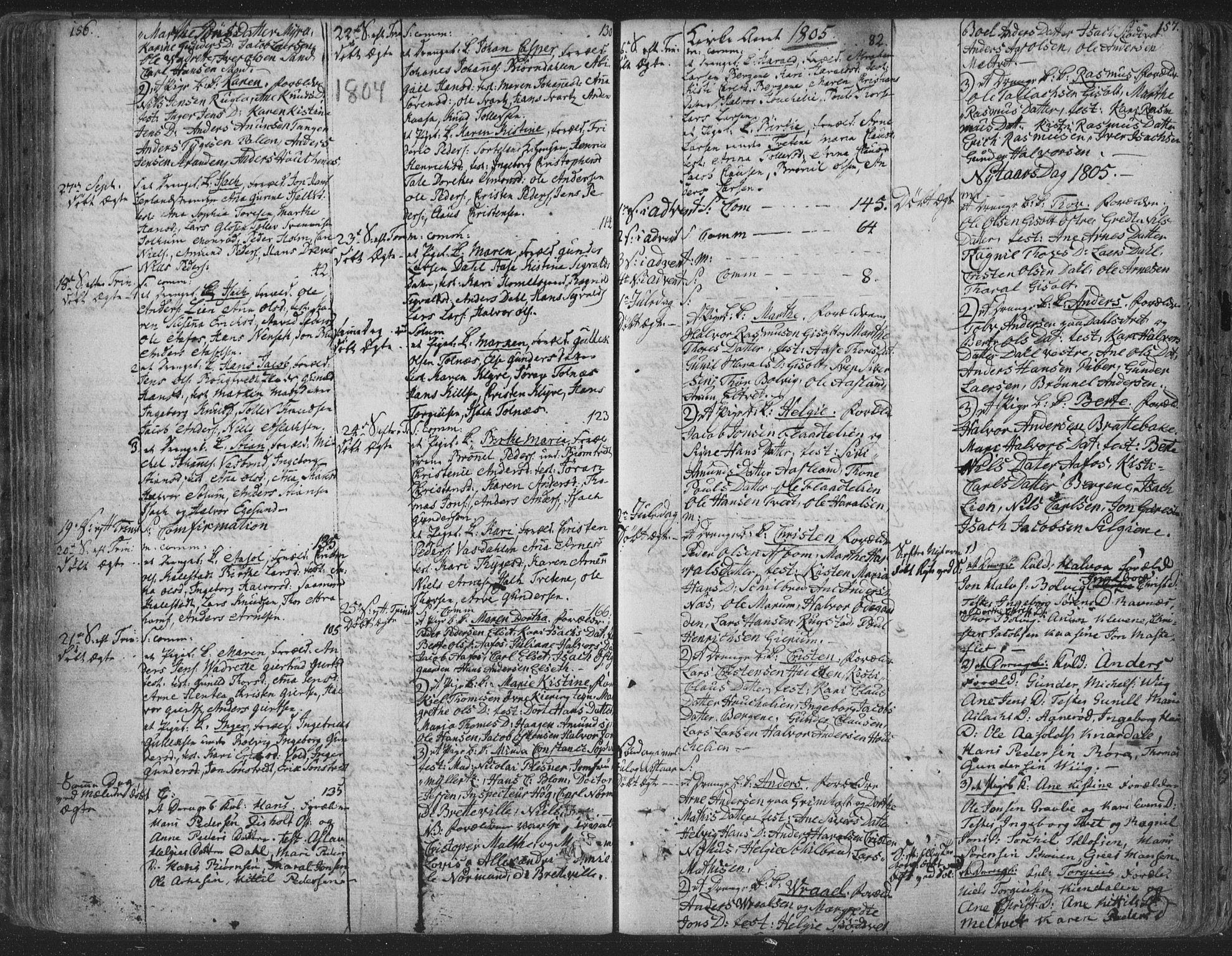 SAKO, Solum kirkebøker, F/Fa/L0003: Ministerialbok nr. I 3, 1761-1814, s. 156-157