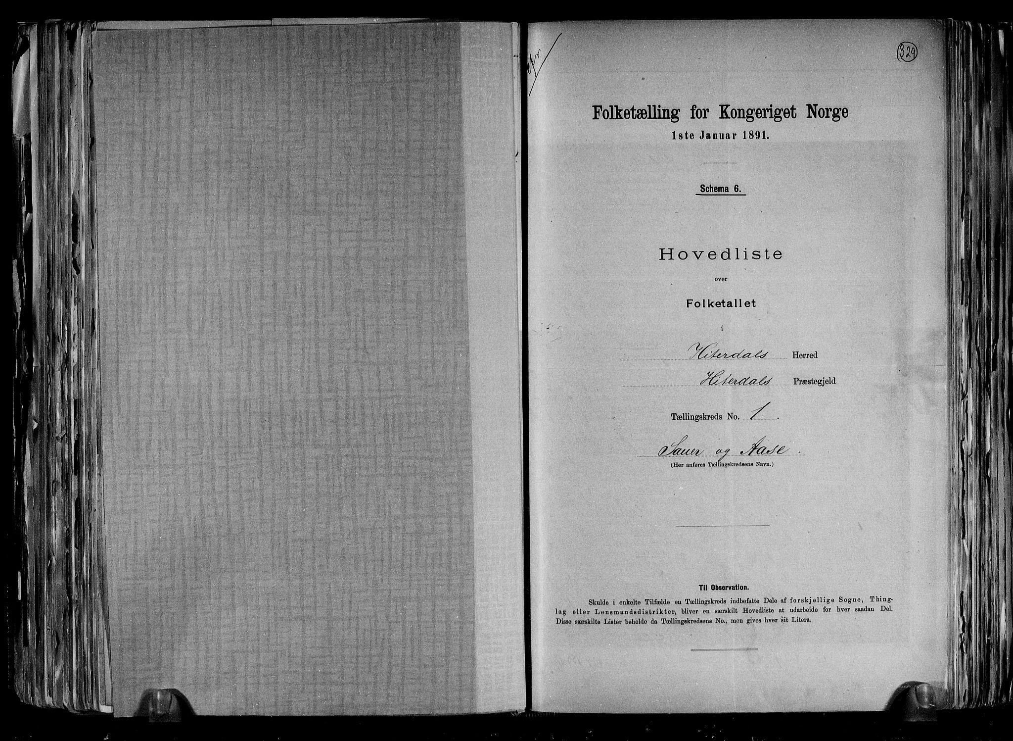 RA, Folketelling 1891 for 0823 Heddal herred, 1891, s. 6