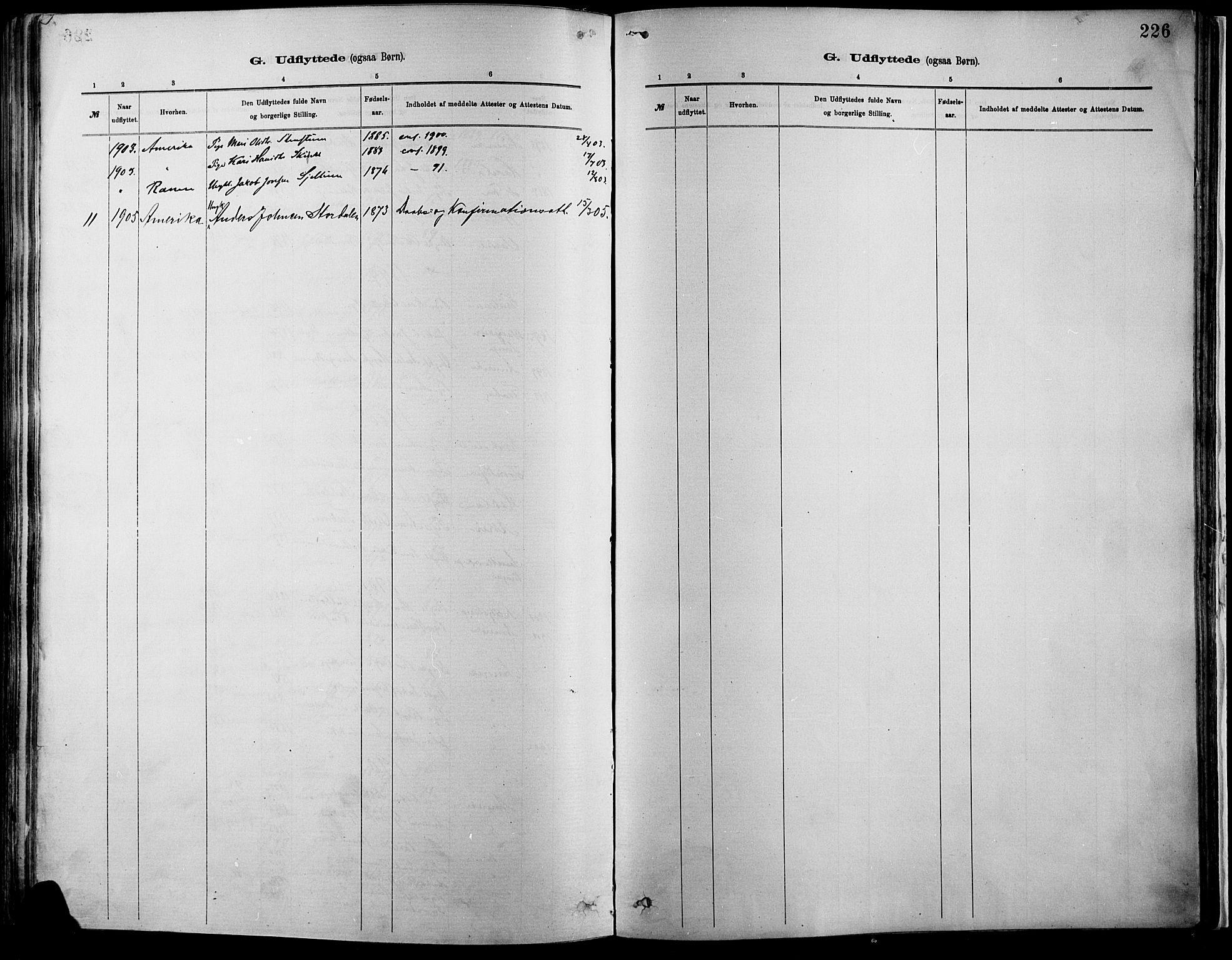 SAH, Vågå prestekontor, Ministerialbok nr. 9, 1886-1904, s. 226