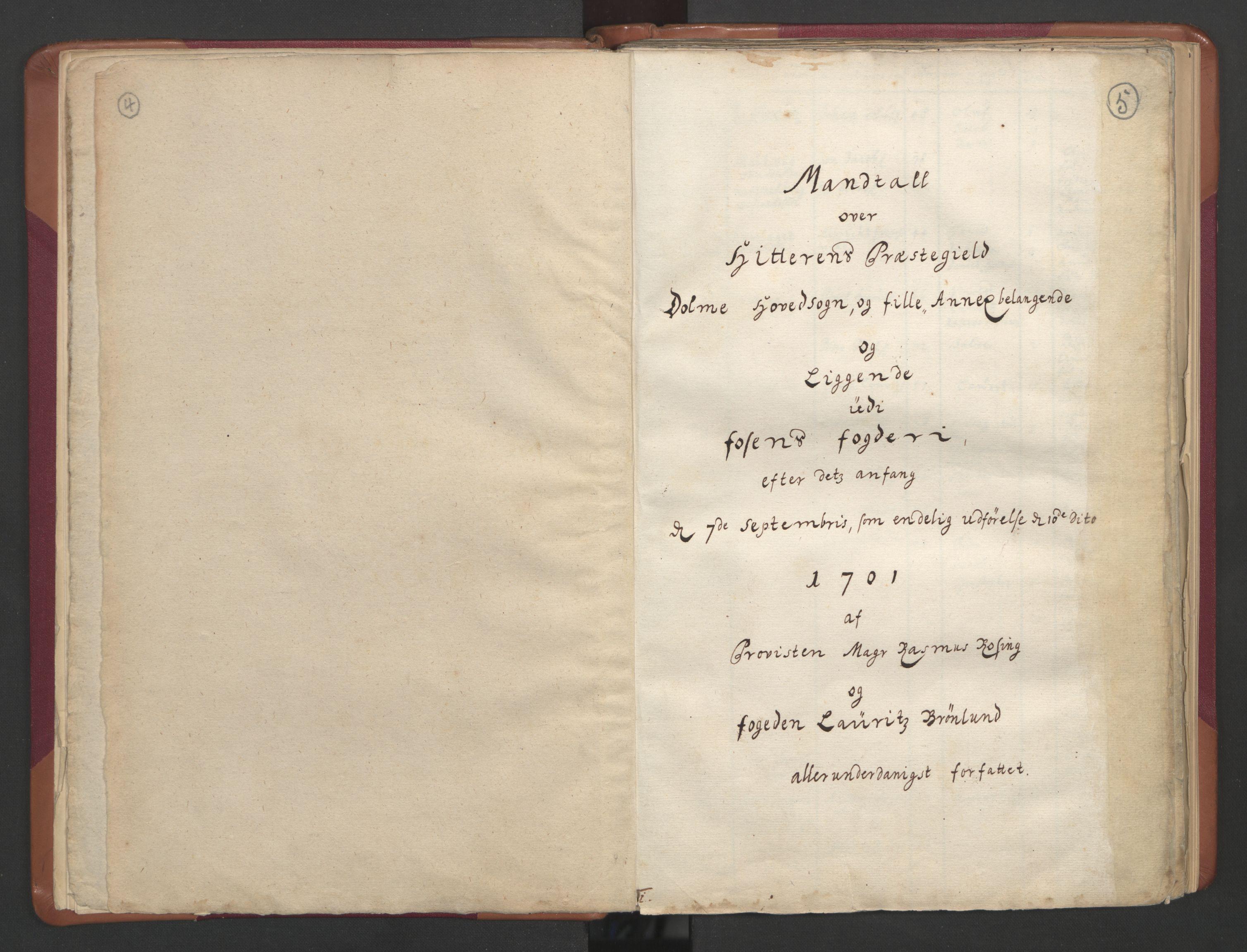 RA, Manntallet 1701, nr. 12: Fosen fogderi, 1701, s. 4-5