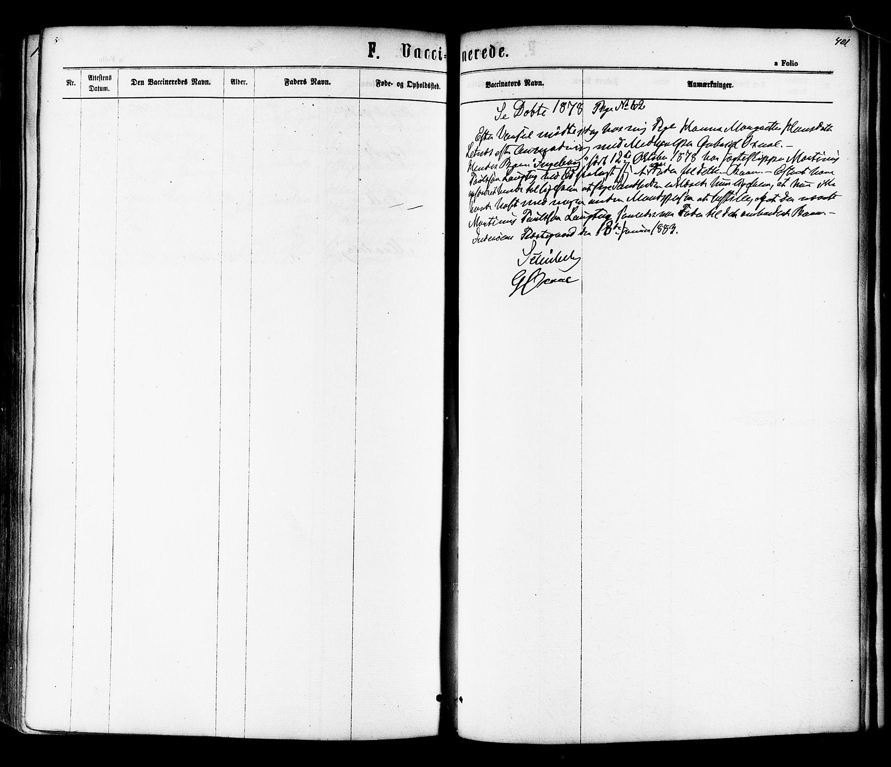 SAT, Ministerialprotokoller, klokkerbøker og fødselsregistre - Nord-Trøndelag, 730/L0284: Ministerialbok nr. 730A09, 1866-1878, s. 401
