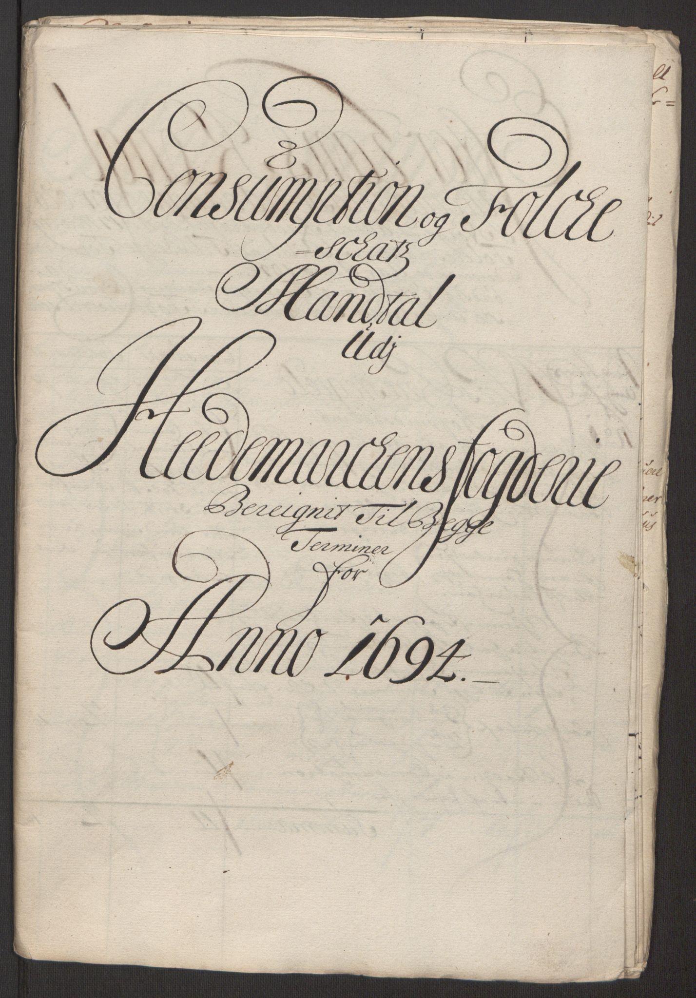 RA, Rentekammeret inntil 1814, Reviderte regnskaper, Fogderegnskap, R16/L1035: Fogderegnskap Hedmark, 1694, s. 79