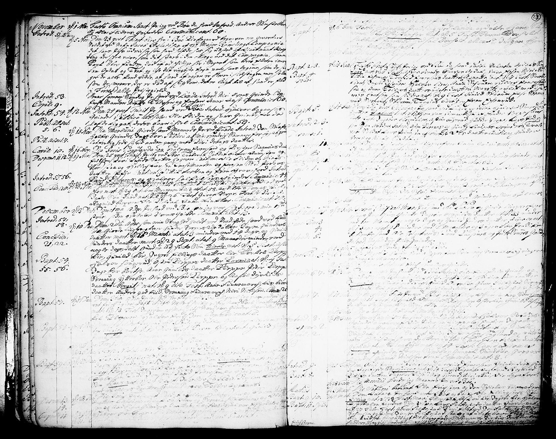 SAKO, Bø kirkebøker, F/Fa/L0003: Ministerialbok nr. 3, 1733-1748, s. 23