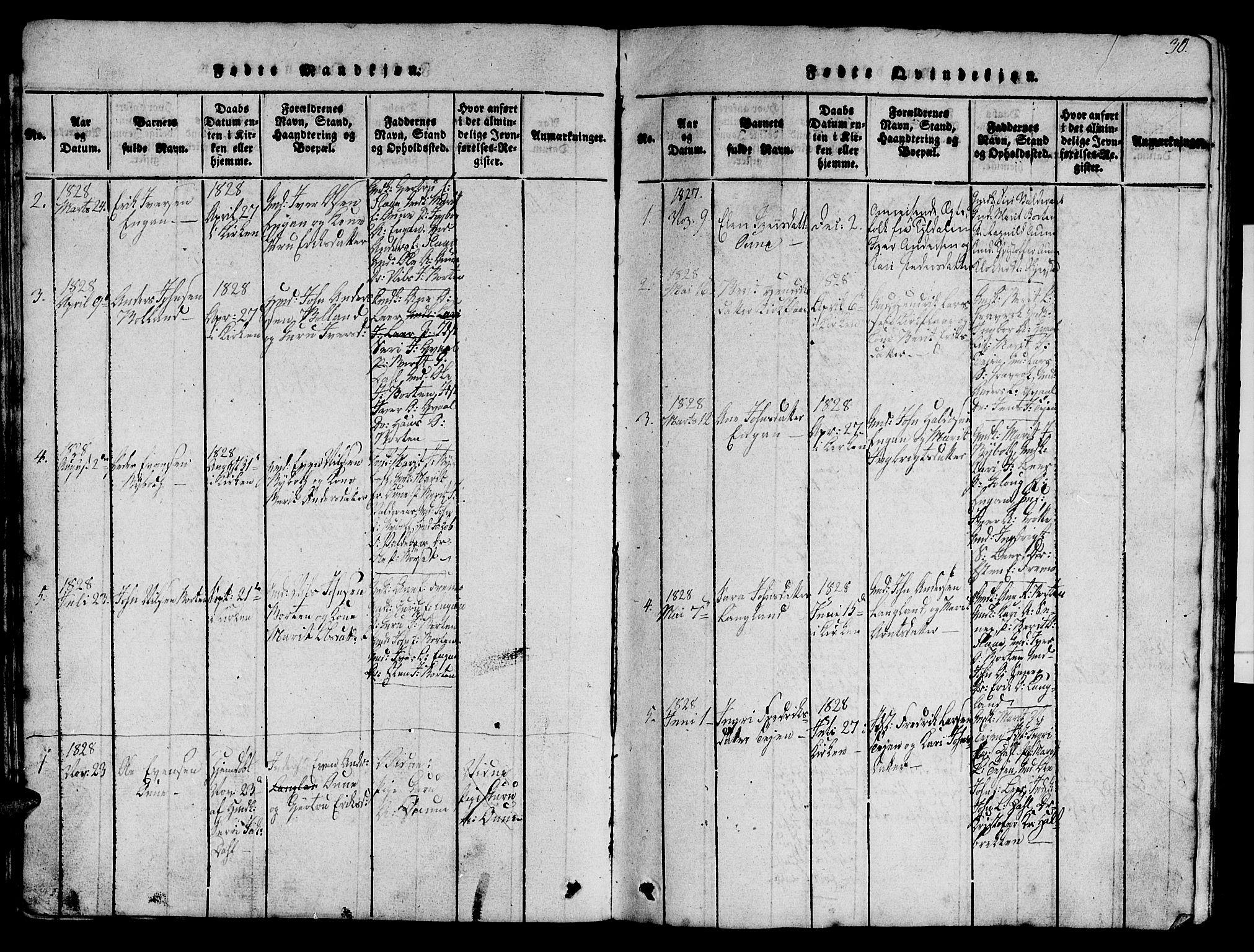 SAT, Ministerialprotokoller, klokkerbøker og fødselsregistre - Sør-Trøndelag, 693/L1121: Klokkerbok nr. 693C02, 1816-1869, s. 30