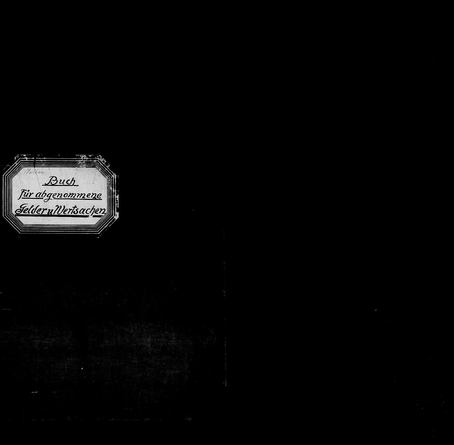 RA, Befehlshaber der Sicherheitspolizei und des SD, F/Fc/L0015: Vollan fengsel - Kassenbuch über abgelieferte Gelder und Wertsachen, 1943
