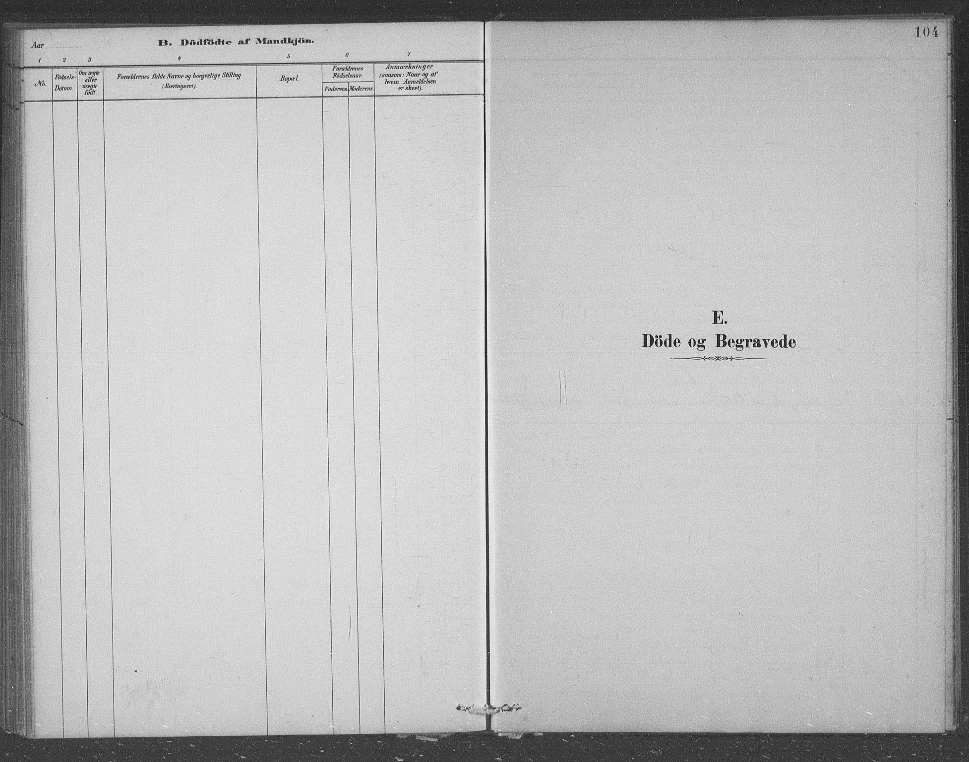 SAST, Egersund sokneprestkontor, Klokkerbok nr. B 7, 1882-1892, s. 104