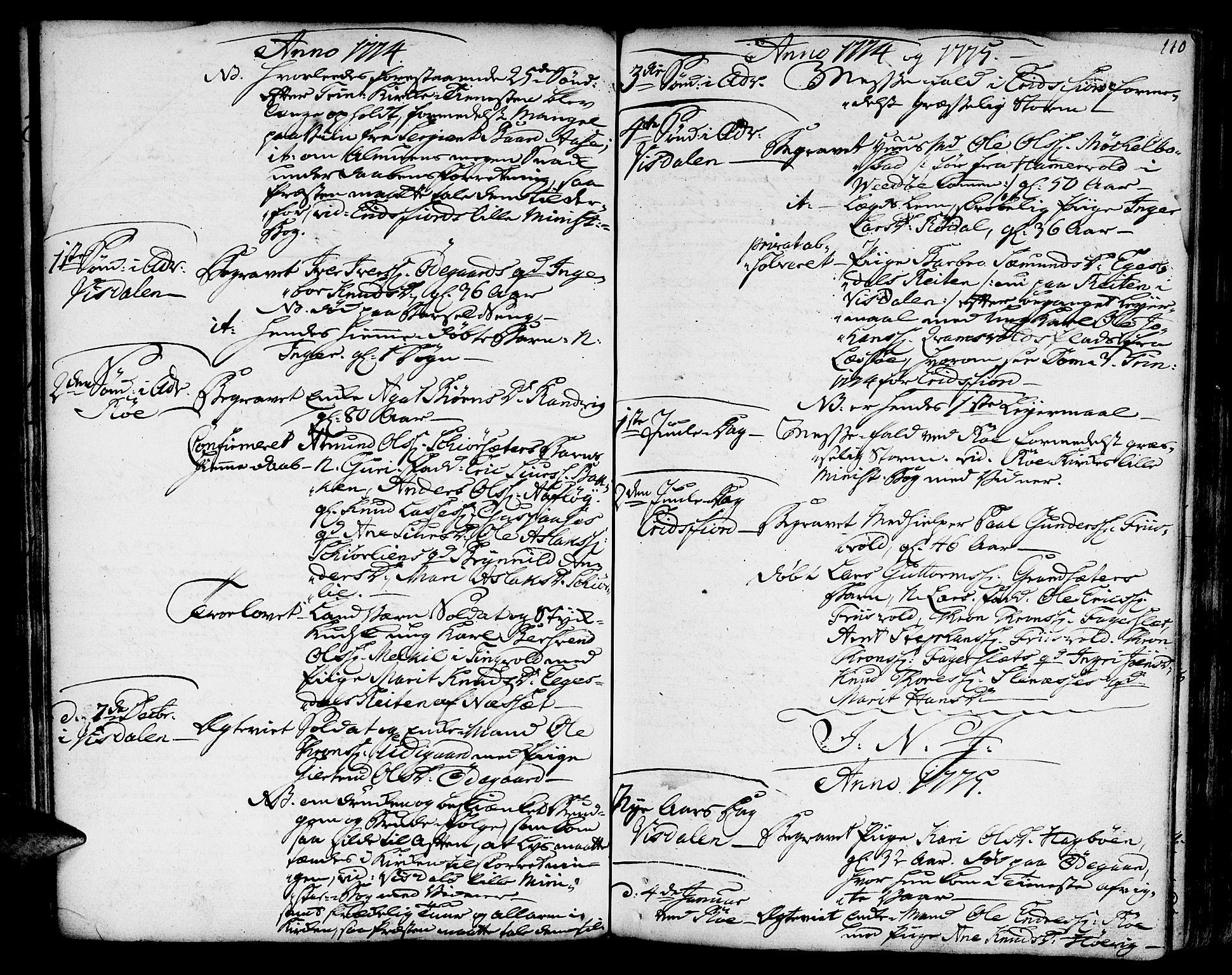 SAT, Ministerialprotokoller, klokkerbøker og fødselsregistre - Møre og Romsdal, 551/L0621: Ministerialbok nr. 551A01, 1757-1803, s. 110