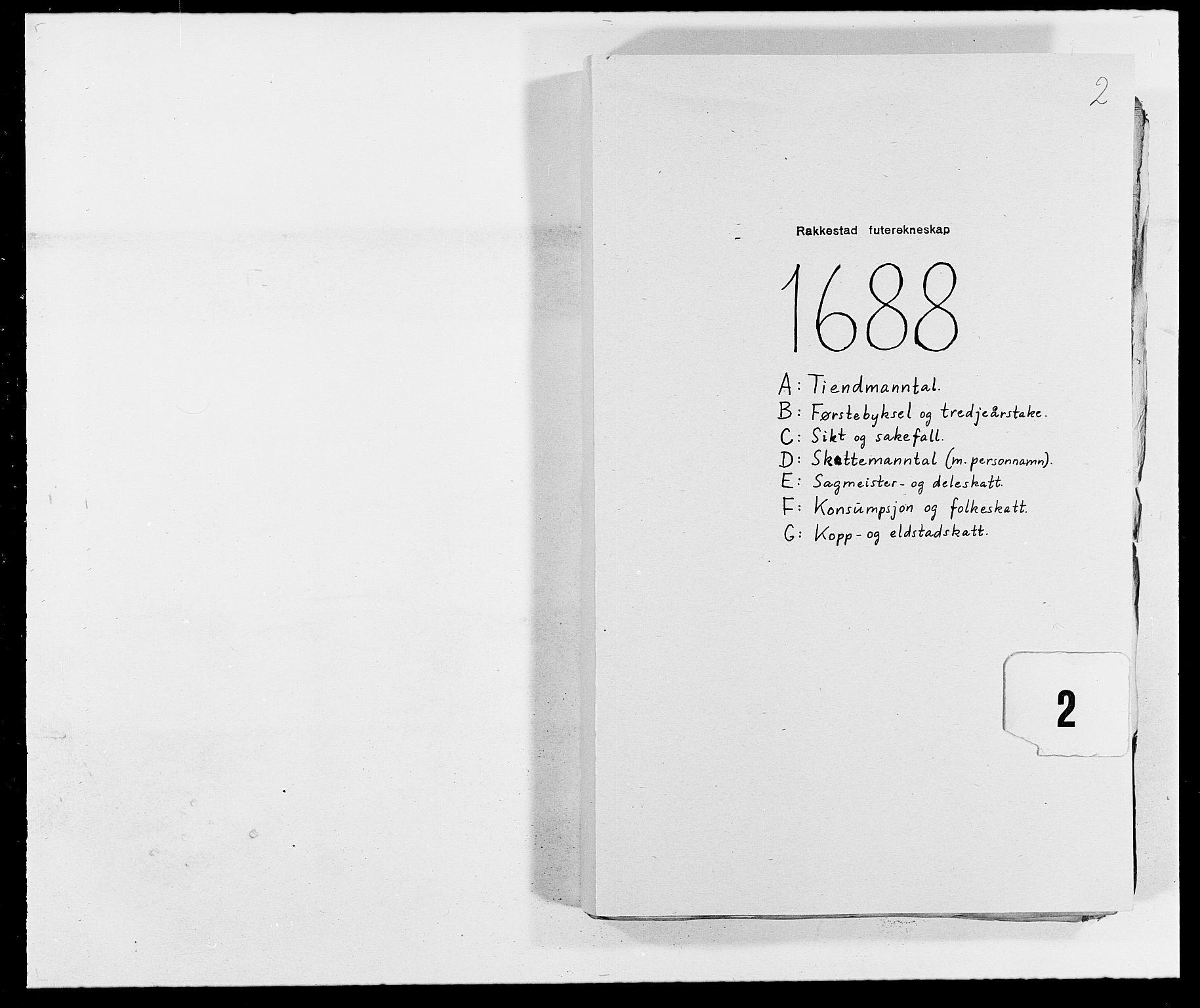 RA, Rentekammeret inntil 1814, Reviderte regnskaper, Fogderegnskap, R05/L0276: Fogderegnskap Rakkestad, 1683-1688, s. 103