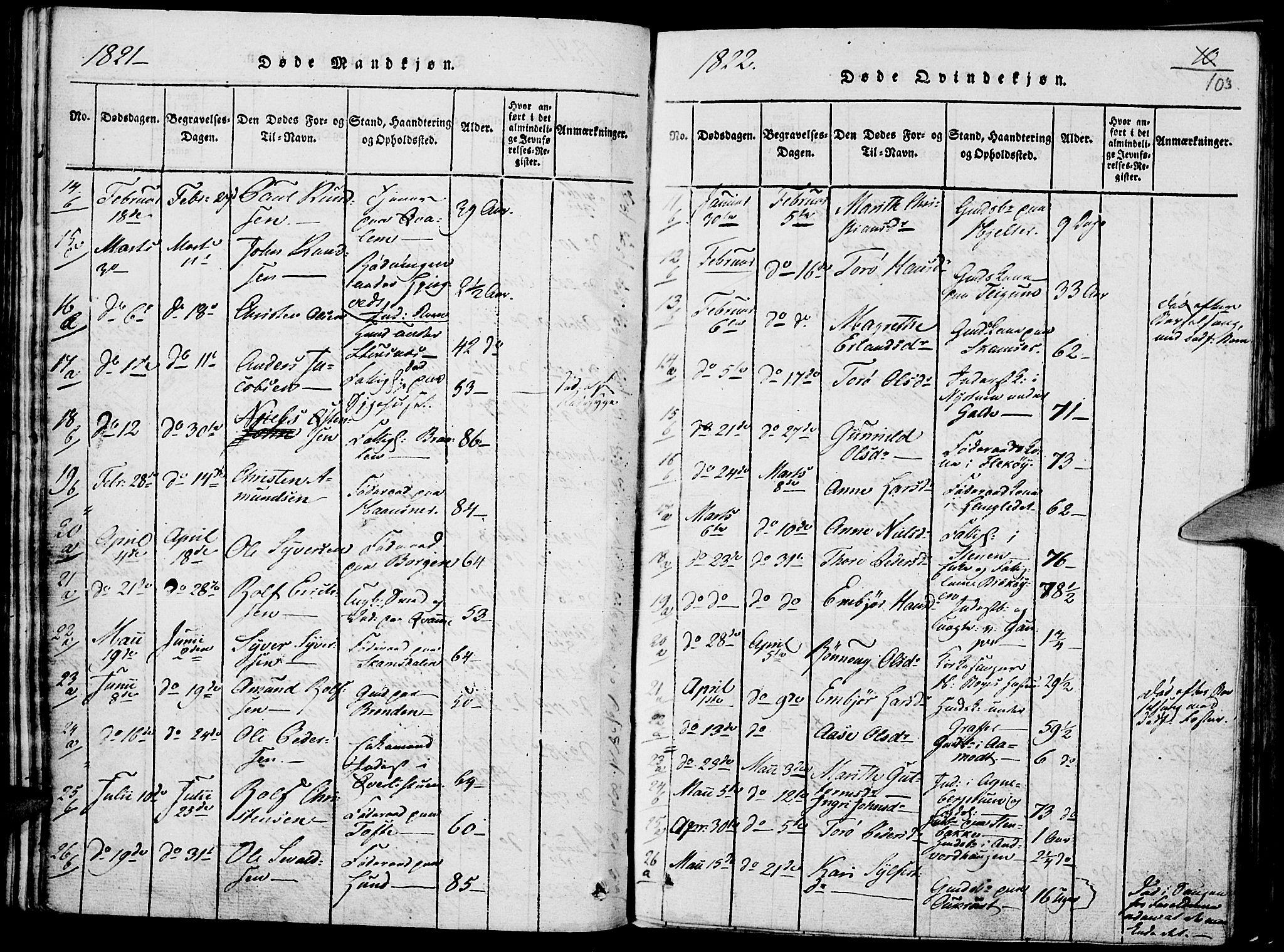 SAH, Lom prestekontor, K/L0004: Ministerialbok nr. 4, 1815-1825, s. 103