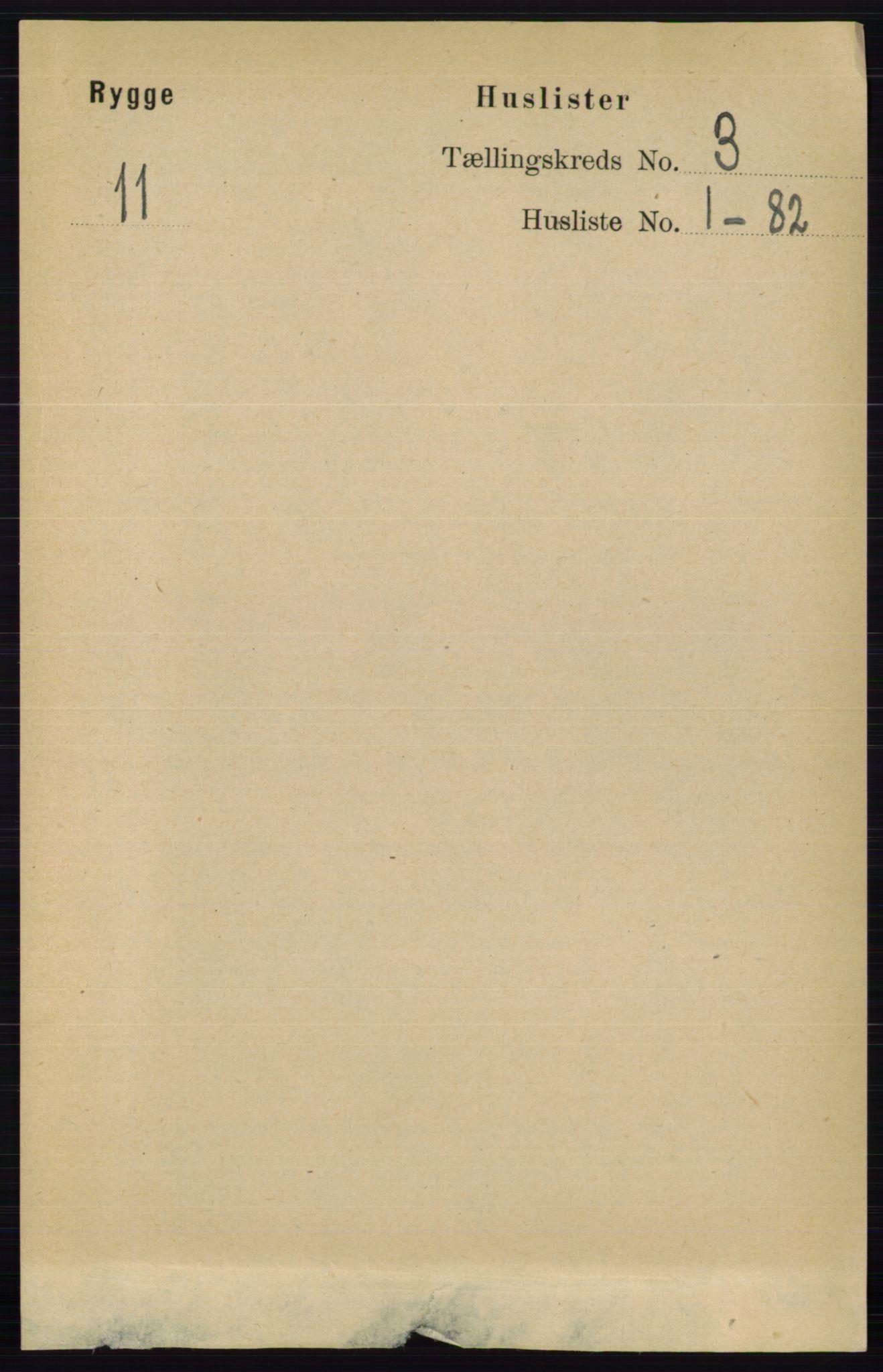 RA, Folketelling 1891 for 0136 Rygge herred, 1891, s. 1582