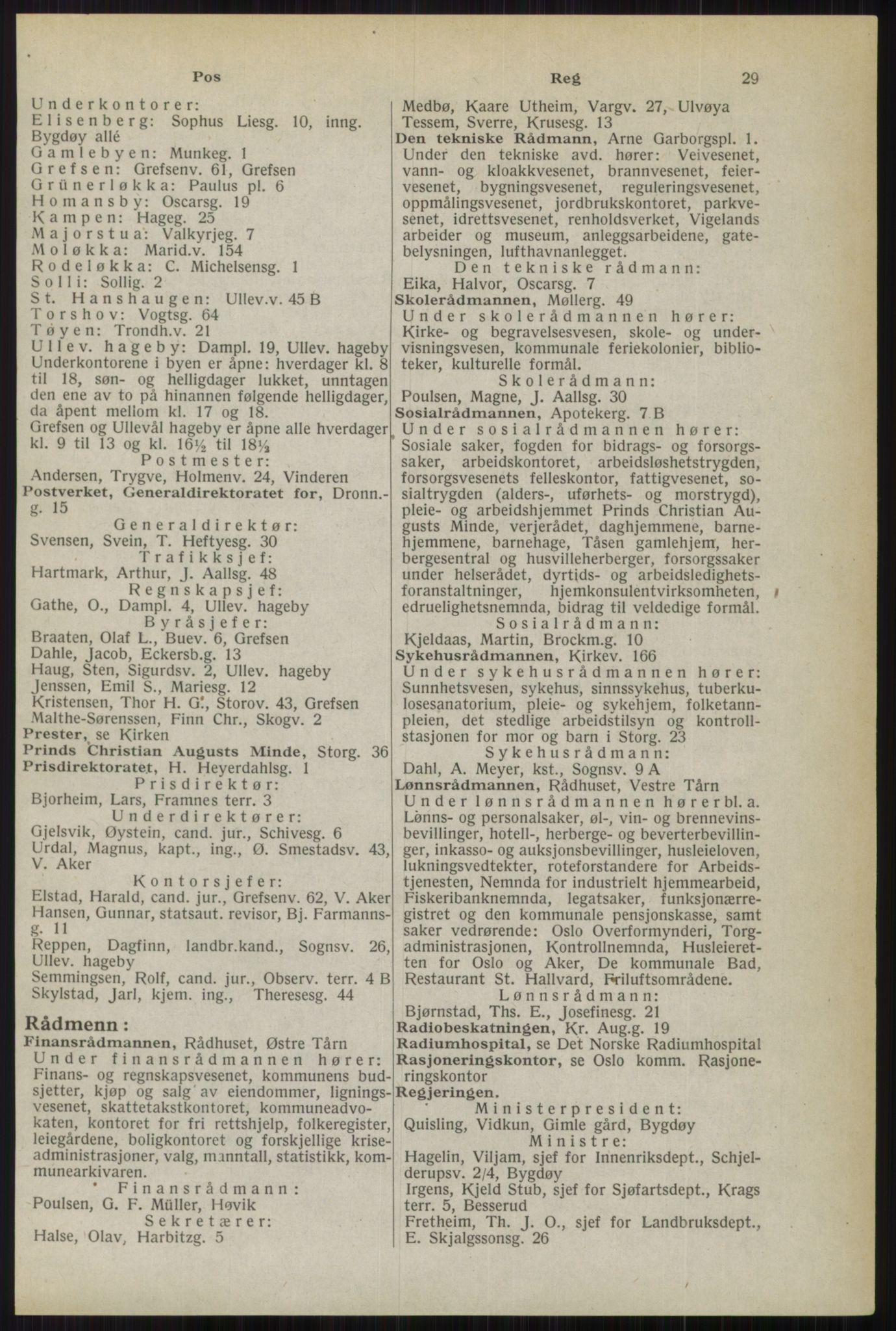 RA, Oslo adressebok (publikasjon)*, 1944, s. 29