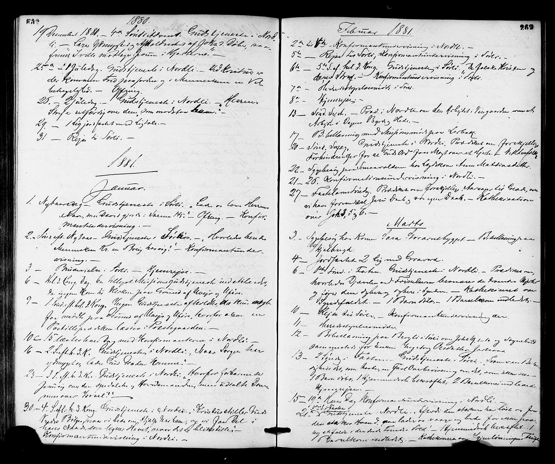 SAT, Ministerialprotokoller, klokkerbøker og fødselsregistre - Nord-Trøndelag, 755/L0493: Ministerialbok nr. 755A02, 1865-1881, s. 269