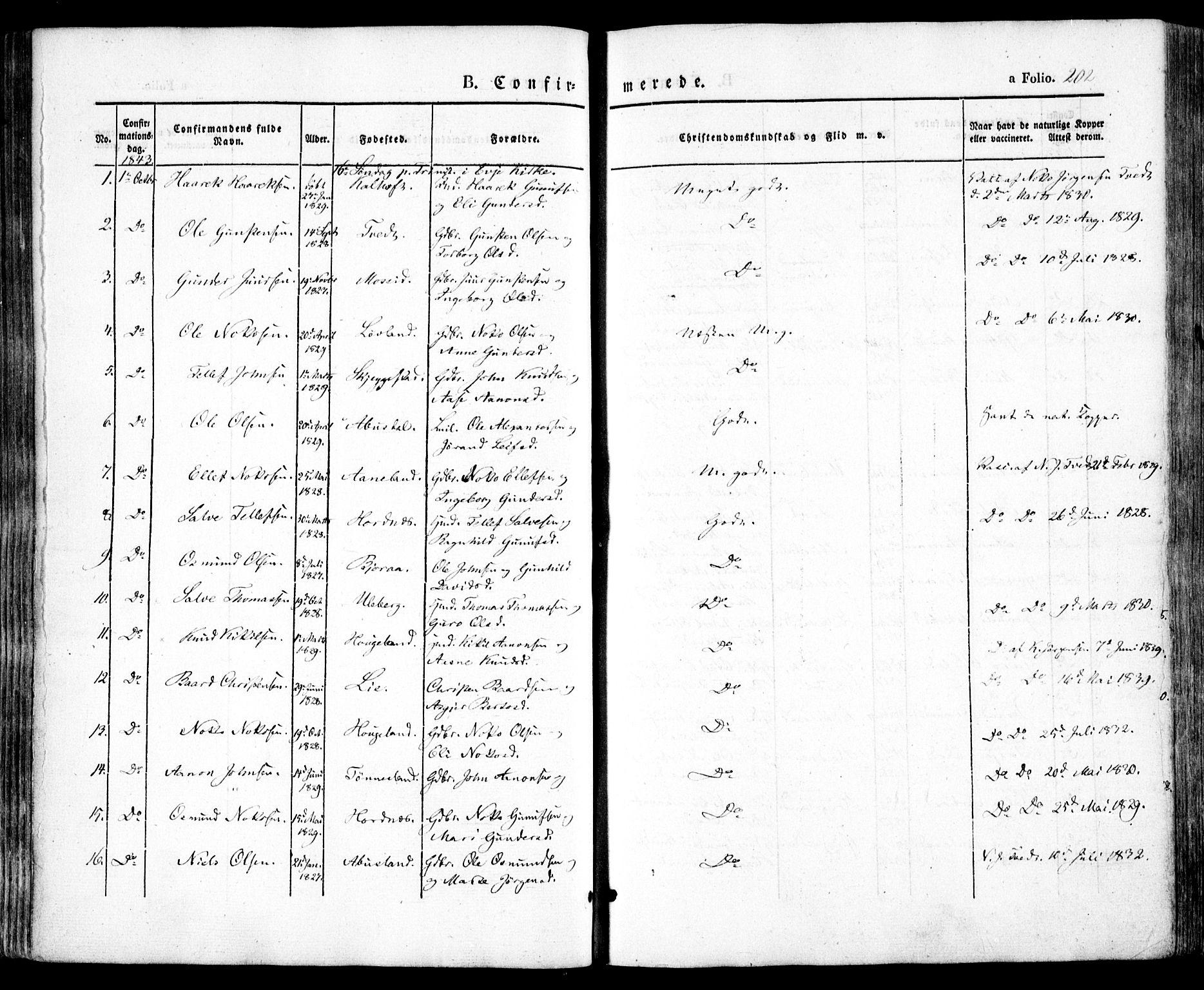 SAK, Evje sokneprestkontor, F/Fa/Faa/L0005: Ministerialbok nr. A 5, 1843-1865, s. 202