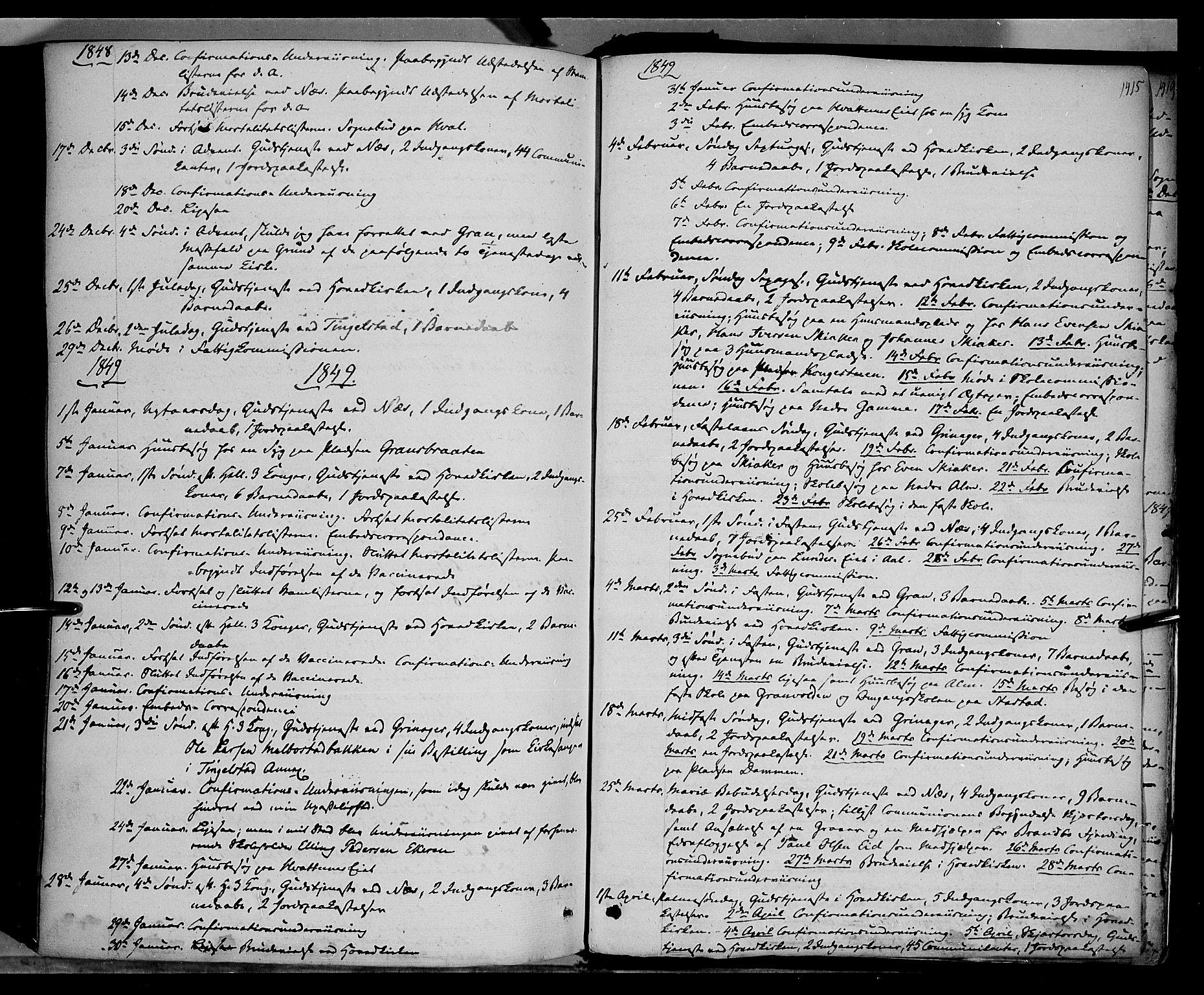 SAH, Gran prestekontor, Ministerialbok nr. 11, 1842-1856, s. 1414-1415