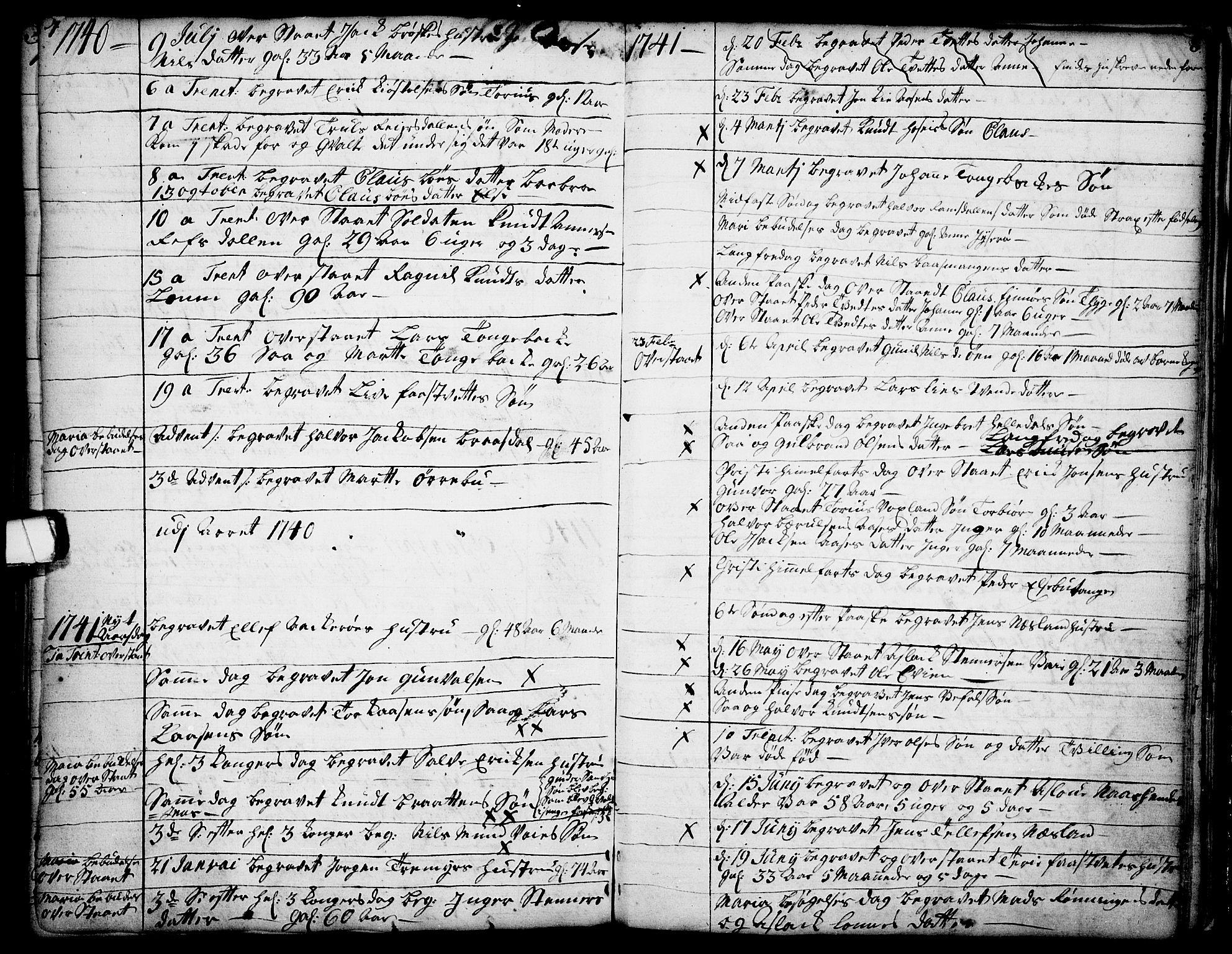SAKO, Drangedal kirkebøker, F/Fa/L0002: Ministerialbok nr. 2, 1733-1753, s. 7-8