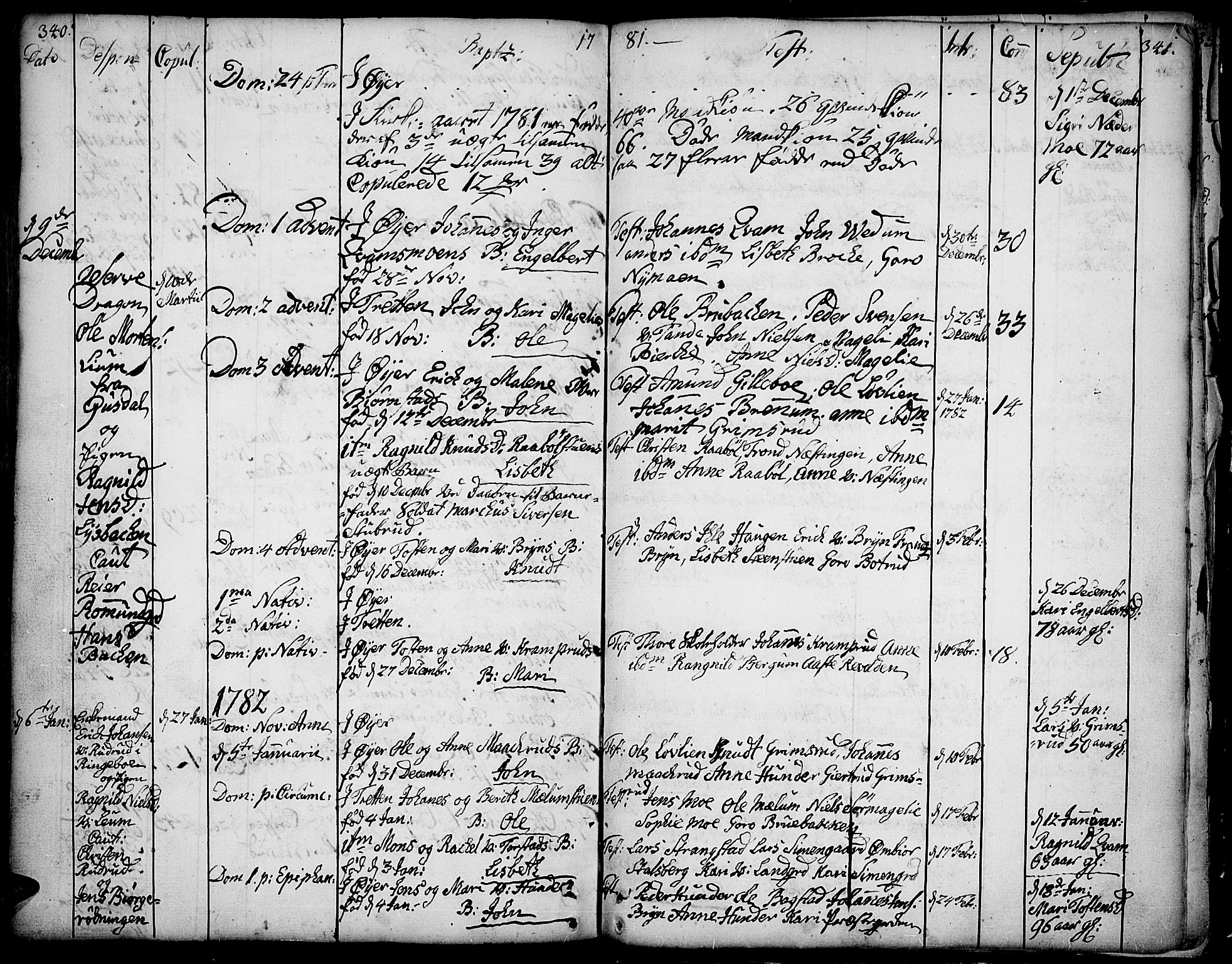SAH, Øyer prestekontor, Ministerialbok nr. 2, 1733-1784, s. 340-341