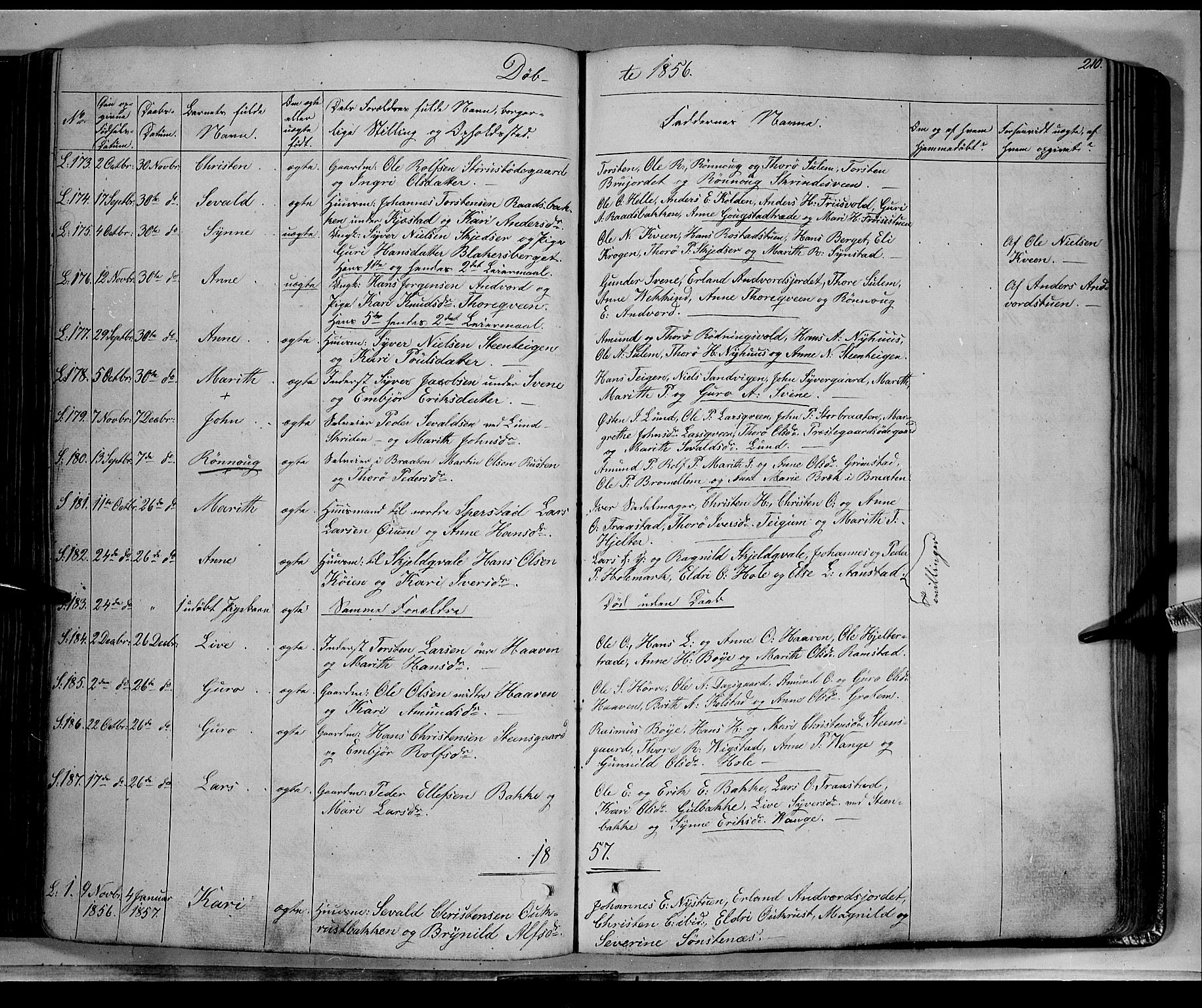 SAH, Lom prestekontor, K/L0006: Ministerialbok nr. 6A, 1837-1863, s. 210