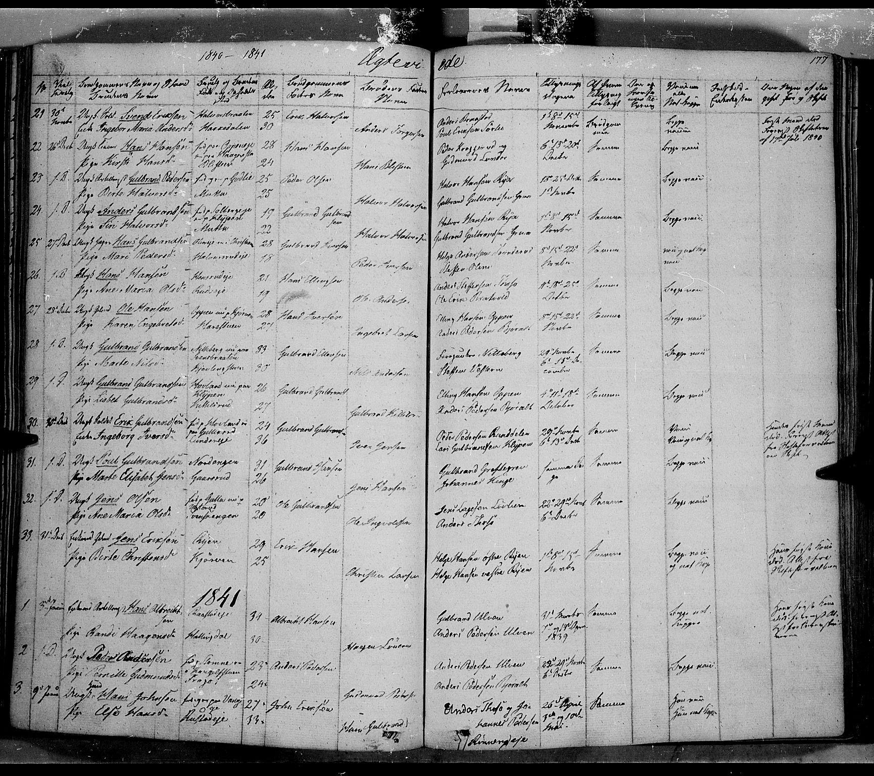 SAH, Jevnaker prestekontor, Ministerialbok nr. 6, 1837-1857, s. 177