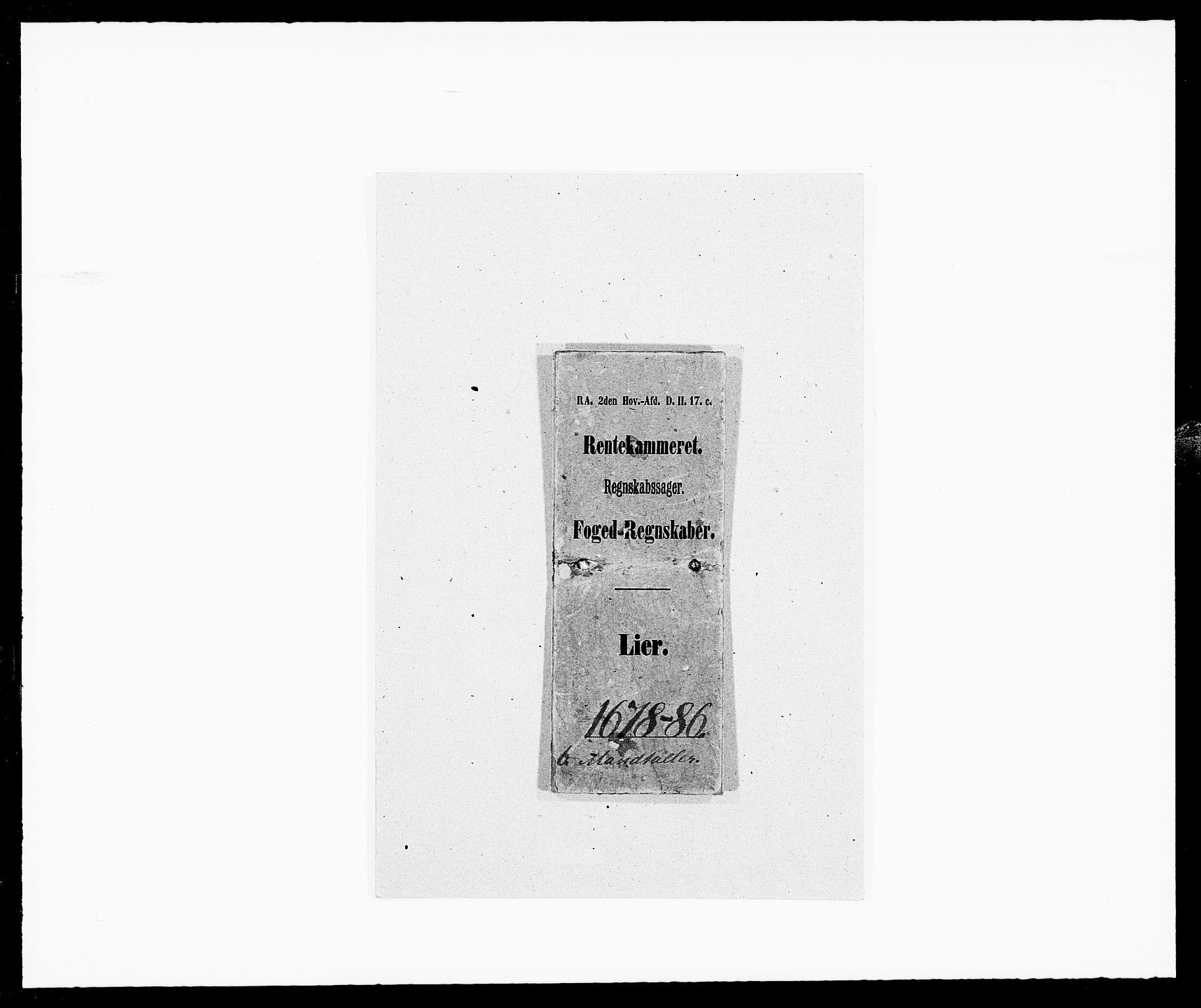 RA, Rentekammeret inntil 1814, Reviderte regnskaper, Fogderegnskap, R27/L1687: Fogderegnskap Lier, 1678-1686, s. 31