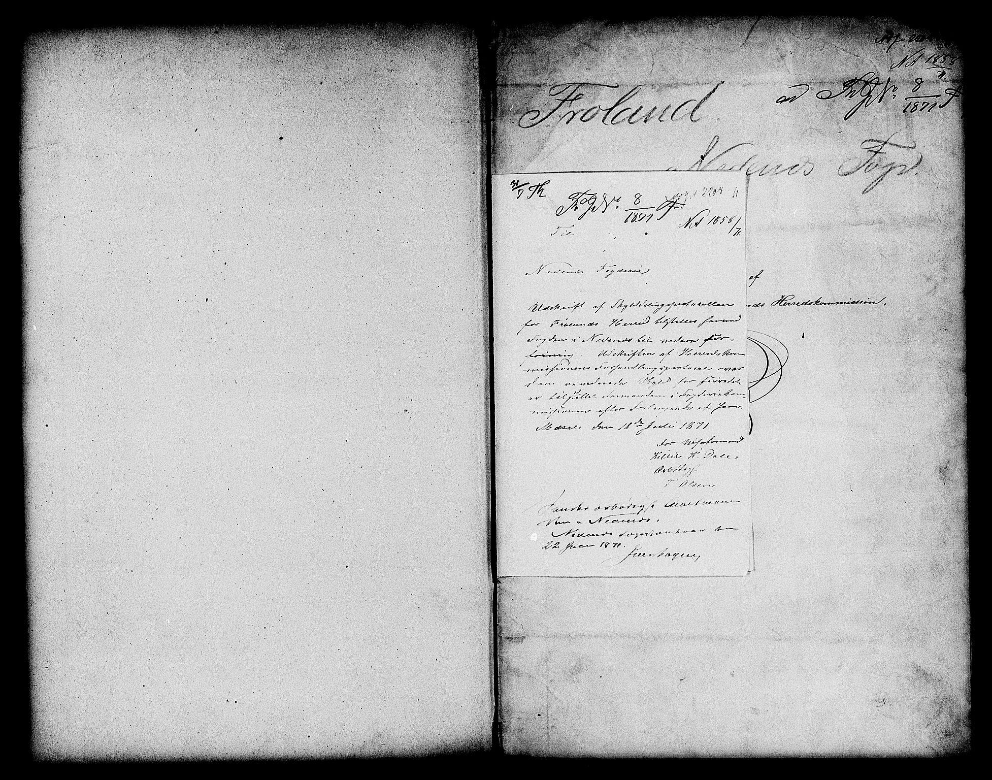 RA, Matrikkelrevisjonen av 1863, F/Fe/L0155: Froland, 1863