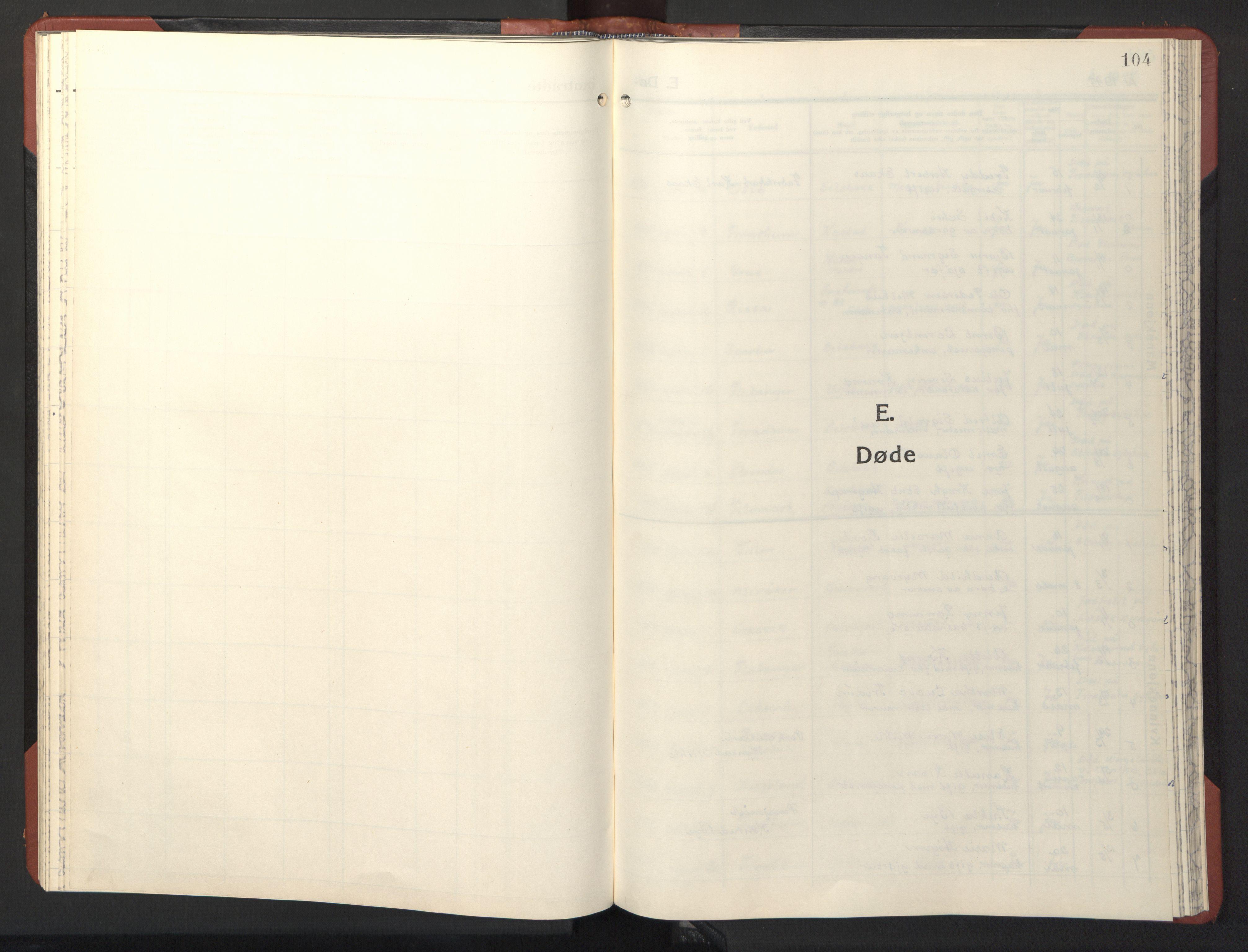 SAT, Ministerialprotokoller, klokkerbøker og fødselsregistre - Sør-Trøndelag, 611/L0359: Klokkerbok nr. 611C07, 1947-1950, s. 104